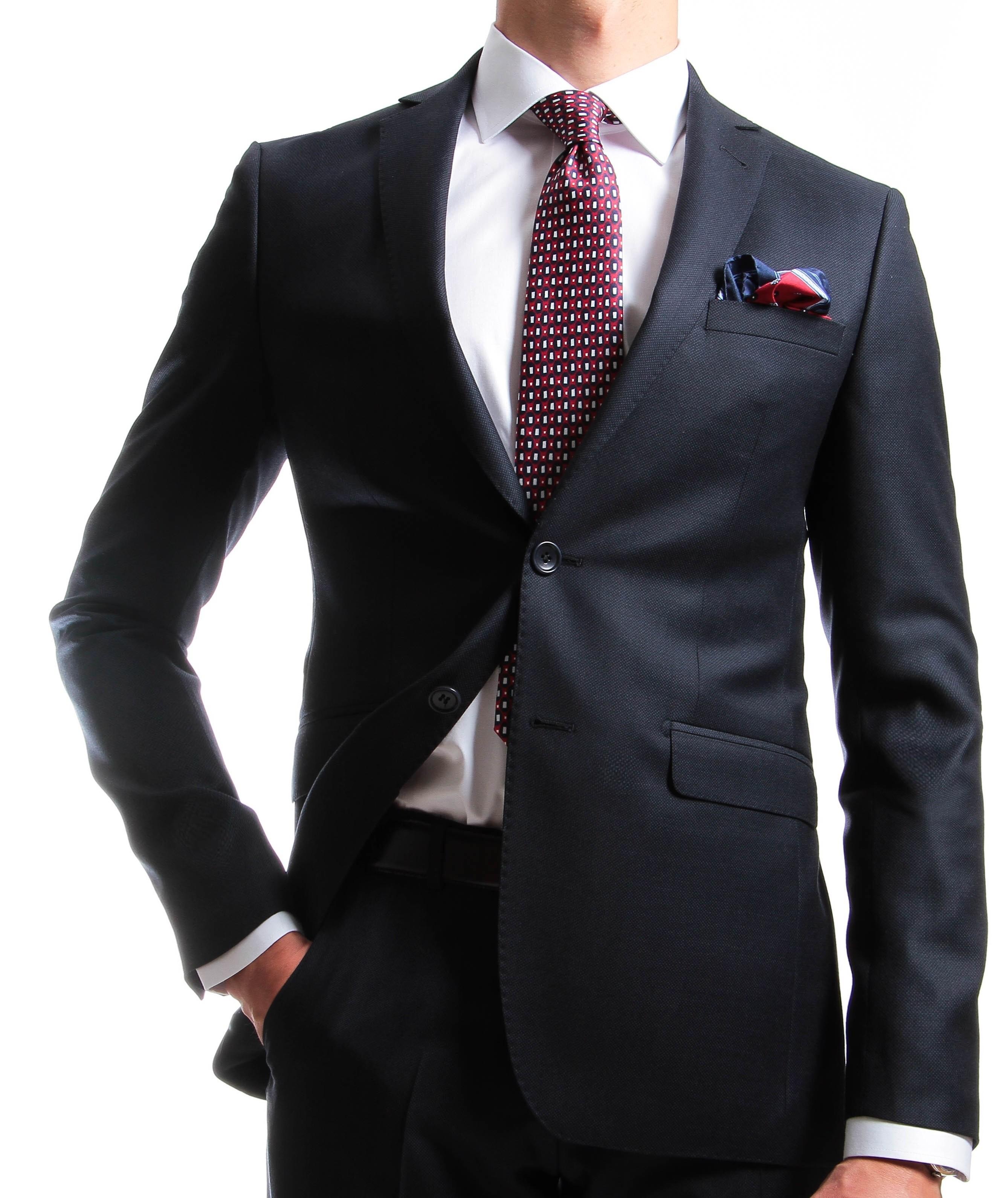 Costume Marine - Slim-Fit - Caviar de laine - Canonico 110's (Suits)