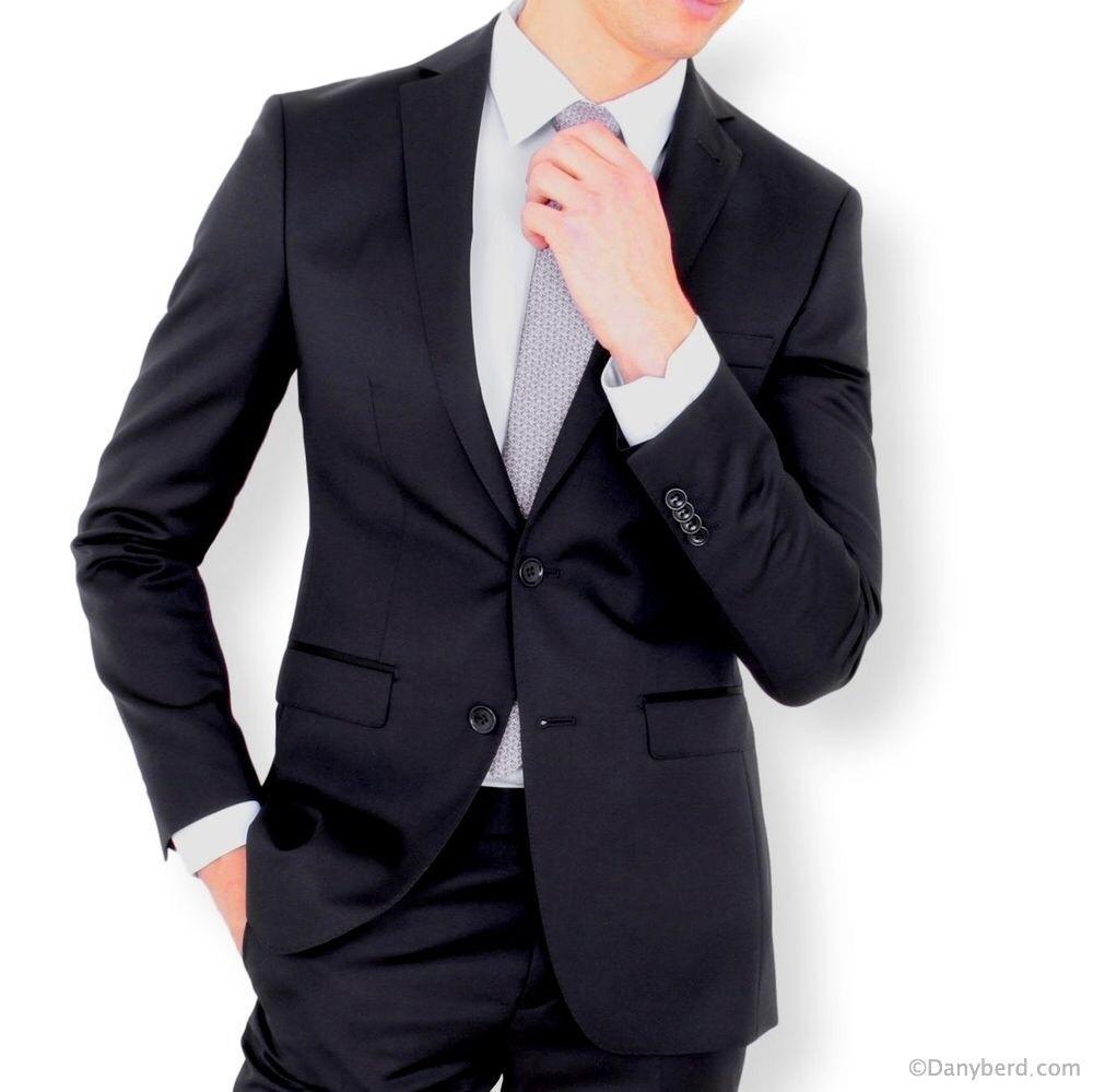 Costume Slim-Fit - Marine - Pure Laine - Tissu Canonico 110's (Suits)