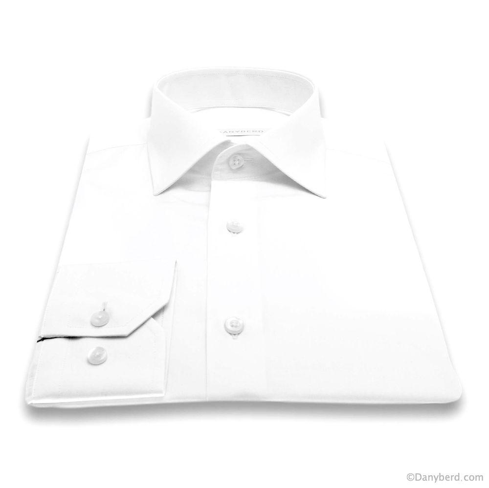Chemise Reims : Blanche - Slim-Cut - Col Français (chemise)