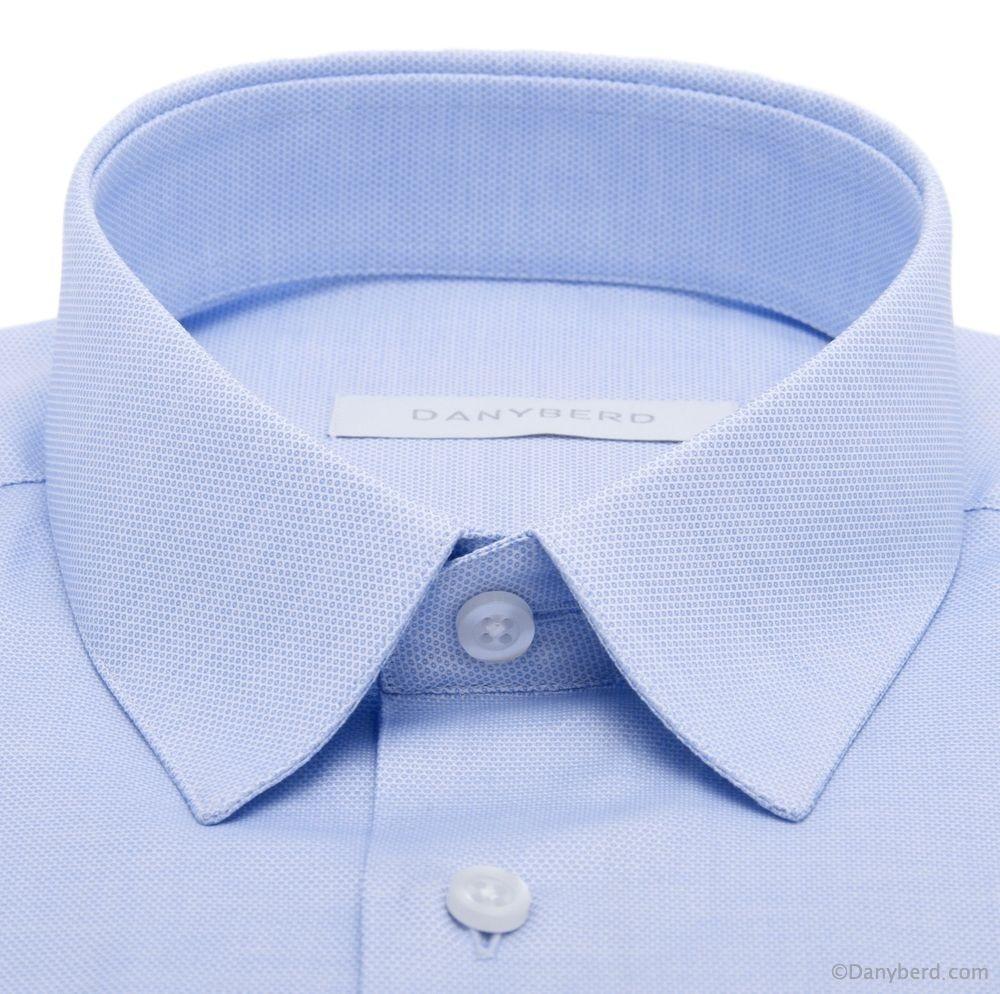 Chemise Reims : Bleue - Slim-Cut - Petit Col Français Surpiqué (Shirts)Chemise Reims : Bleue - Slim-Cut - Petit Col Français Surpiqué (Shirts)