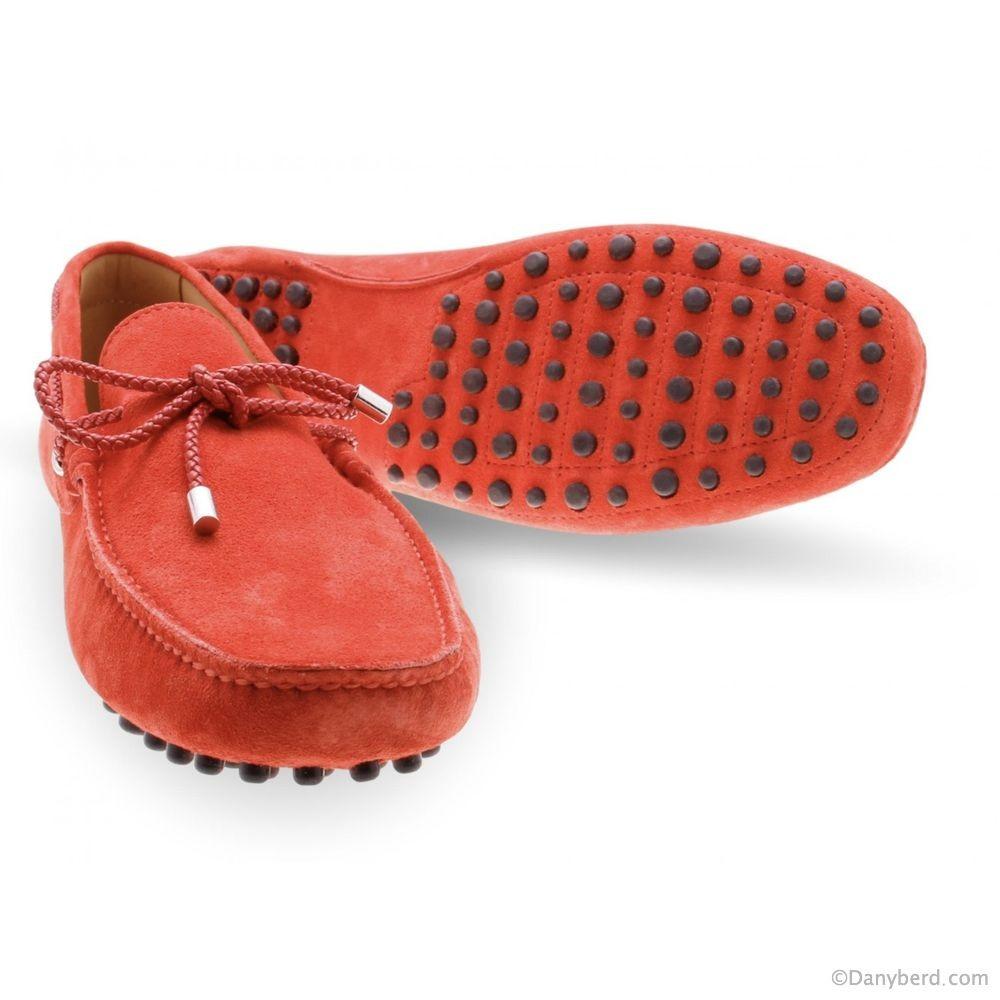 Mocassins Rouge - Veau Velours (Shoes