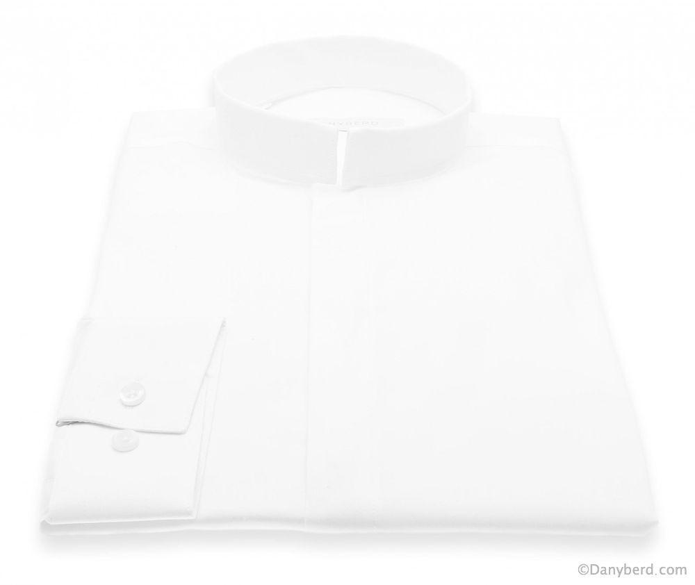 Chemise Roomy : Blanche - Slim-Cut - Col Inversé (Shirts)