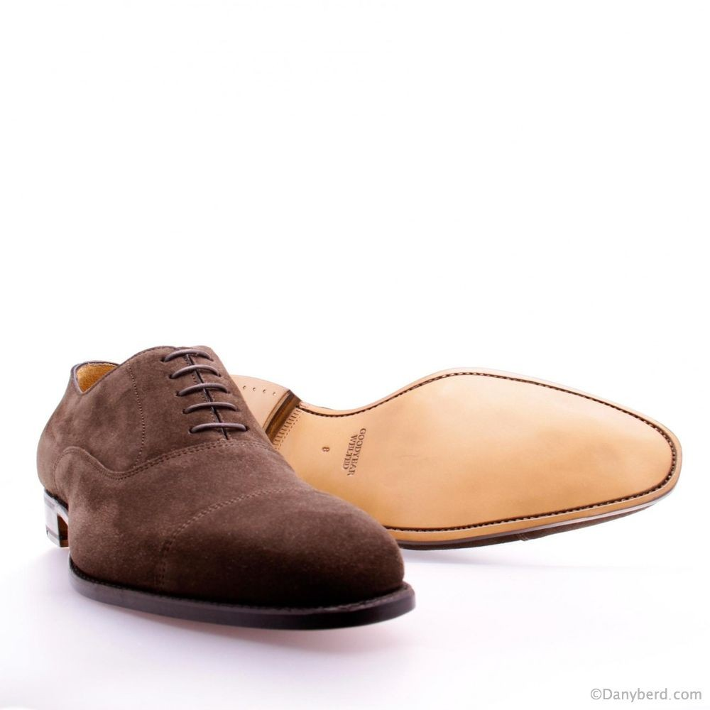 Richelieu Marrons - Veau Velours Cousu Goodyear (Shoes)