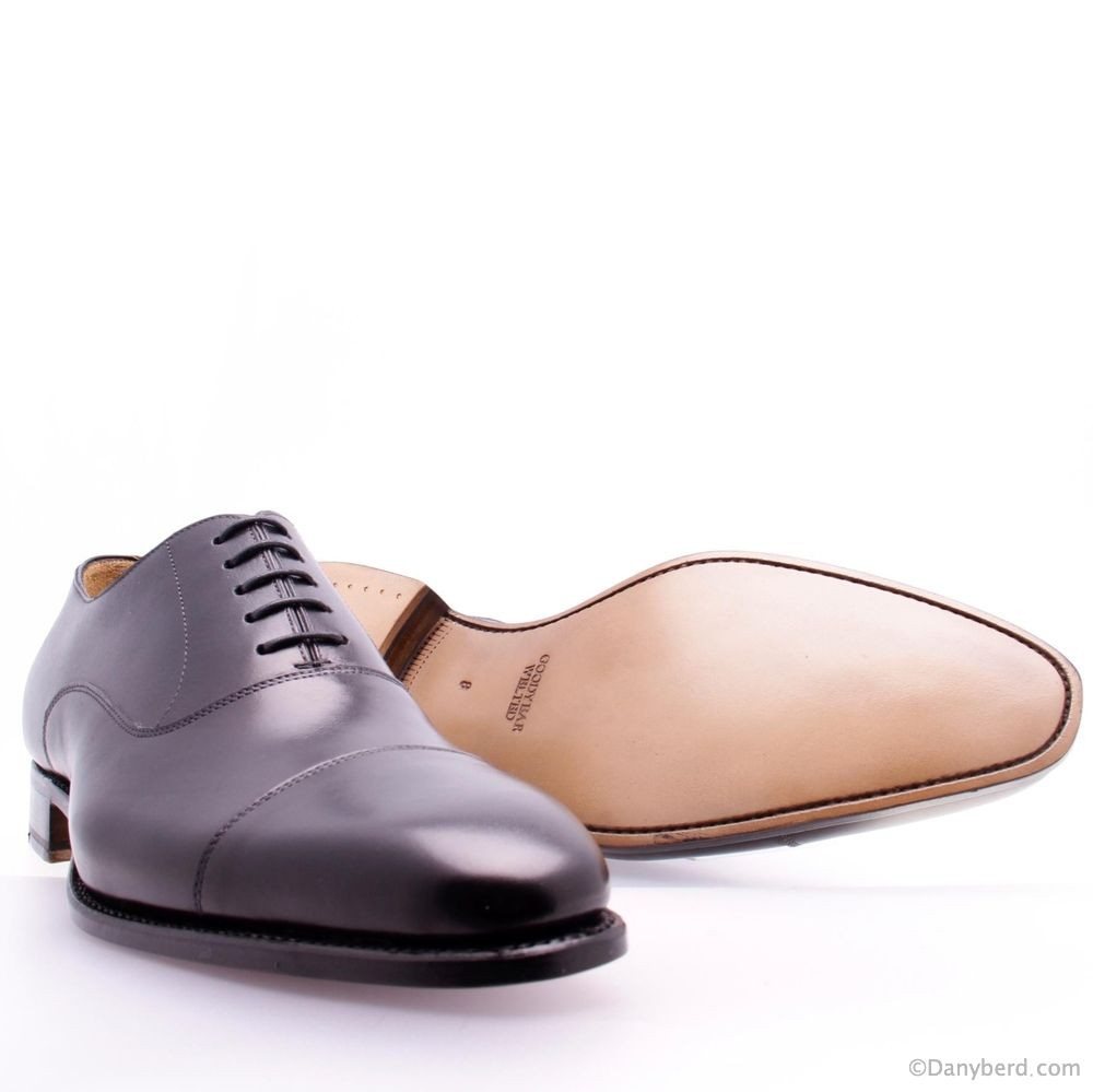 Richelieu Noirs - Cuir Cousu Goodyear (Shoes)