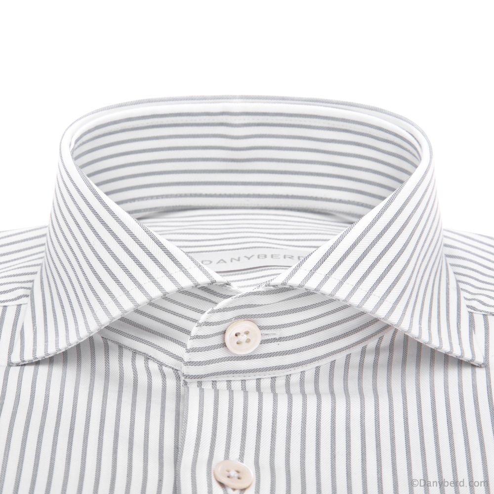 Chemise Reims : Rayures - Slim-cut - Col Italien (ShirtsChemise Reims : Rayures - Slim-cut - Col Italien (Shirts