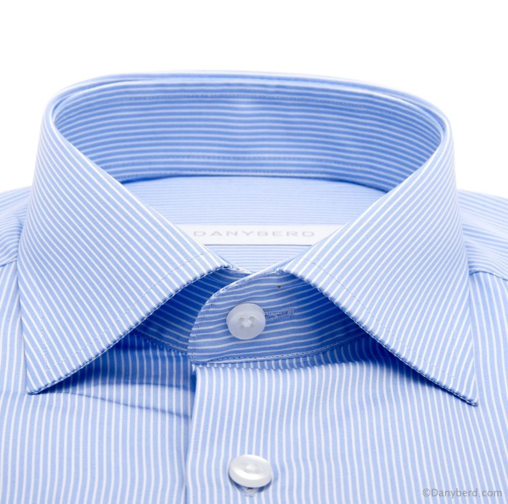Chemise Firenze : Rayures - Slim-Cut - Col français et P. Mousquetaires (Shirts)