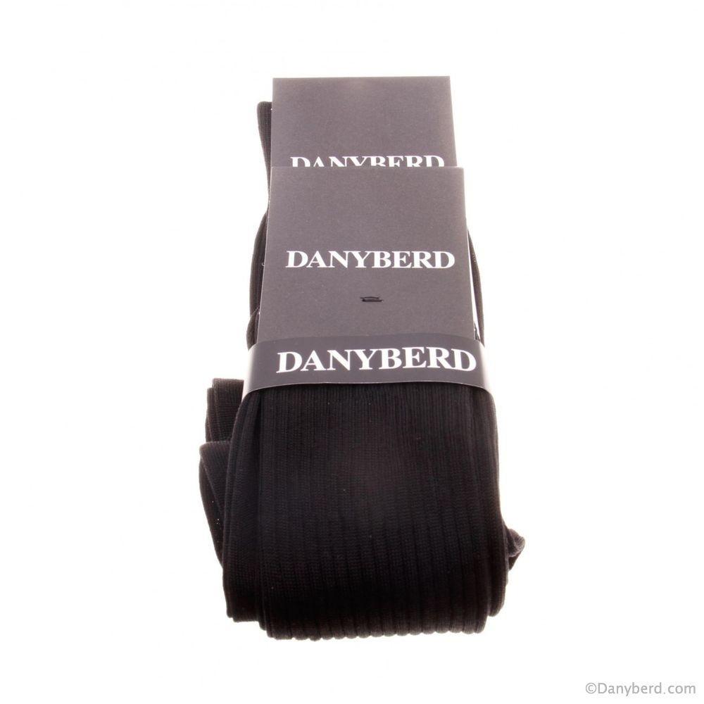 Chaussettes noires avec côtes - 100% Fils d'Ecosse - Lot de 2 paires (Chaussettes)