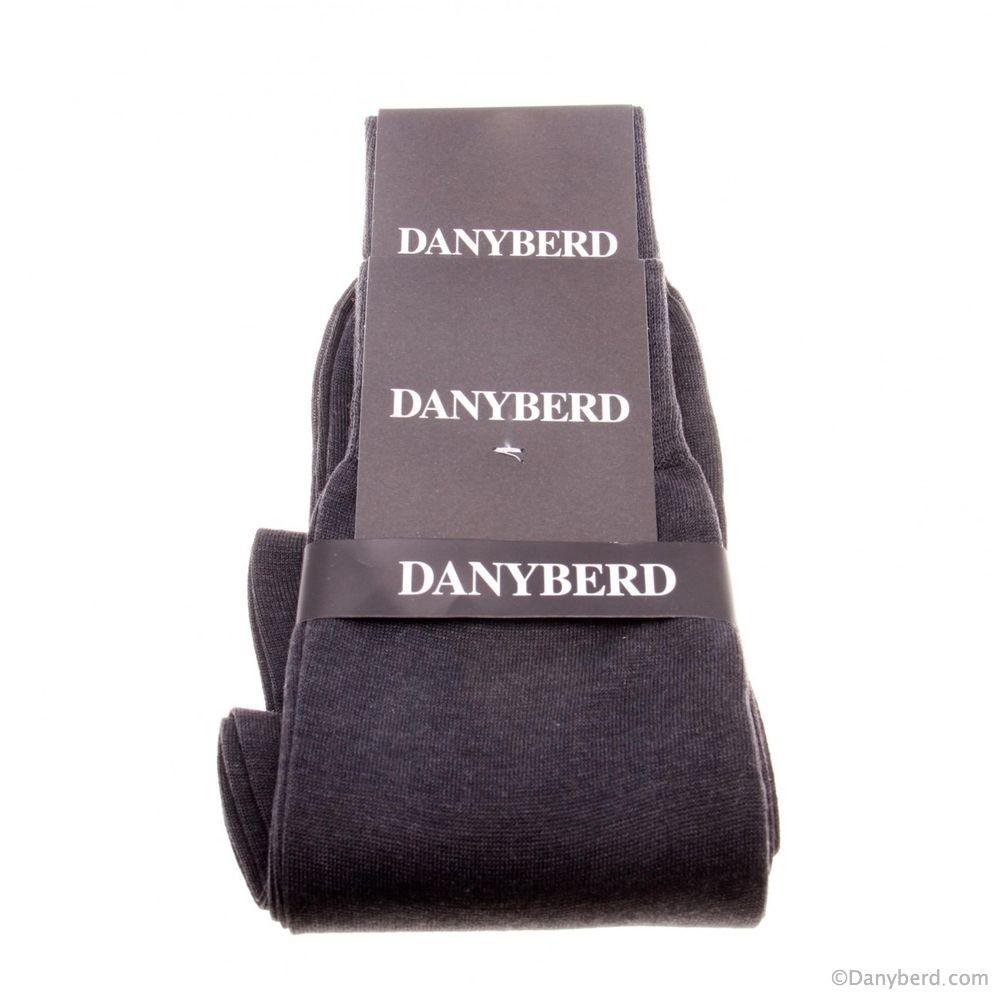 Chaussettes grises lisses - 100% Fils d'Ecosse - Lot de 2 paires (Chaussettes)