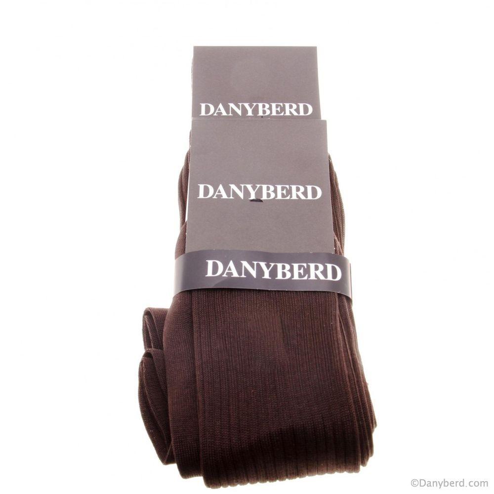 Chaussettes Marrons avec côtes - 100% Fils d'Ecosse - Lot de 2 paires (Chaussettes)
