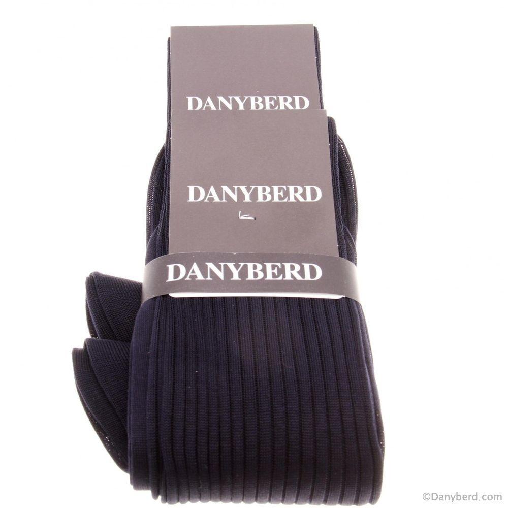 Chaussettes marines avec côtes - 100% Fils d'Ecosse - Lot de 2 paires