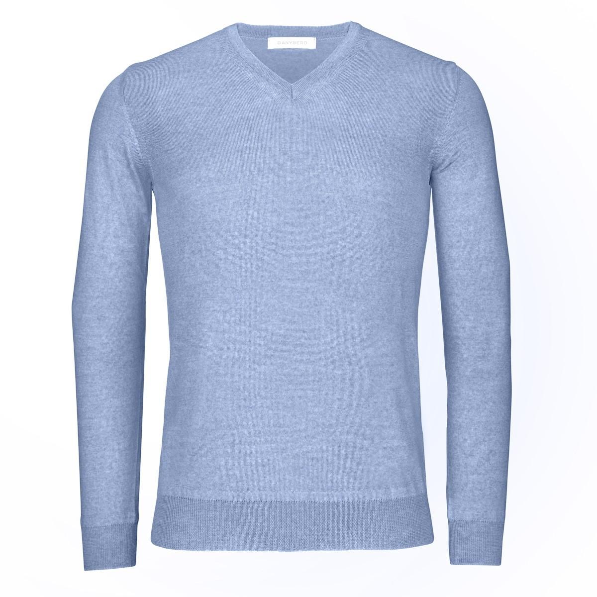 Pull Bleu Ciel - Col V - Coudières