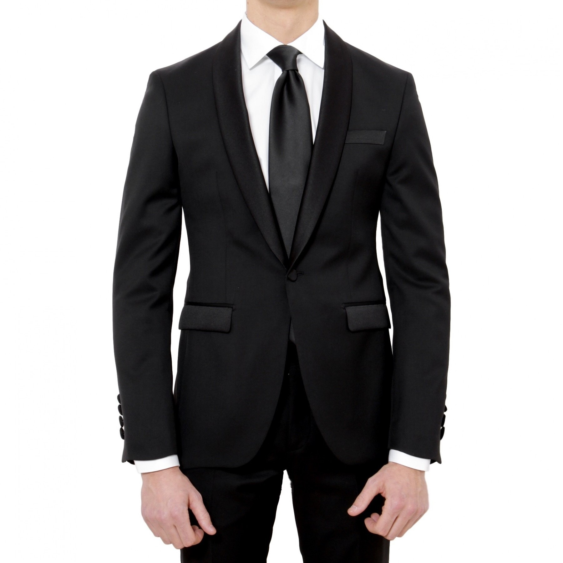 smoking noir col chale homme 1