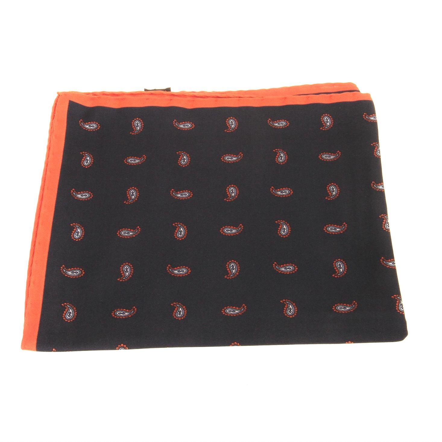 Pochette : Marine - Motifs oranges (Pochettes)