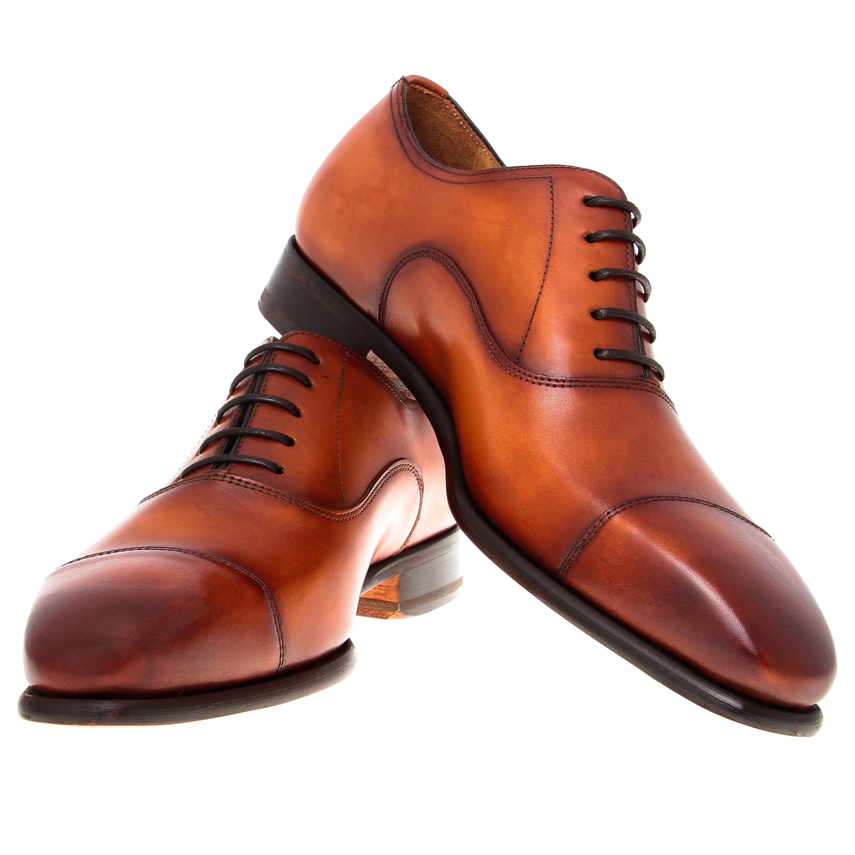 Richelieu : Cognac - Cuir patiné - Cousu Blake (Shoes)
