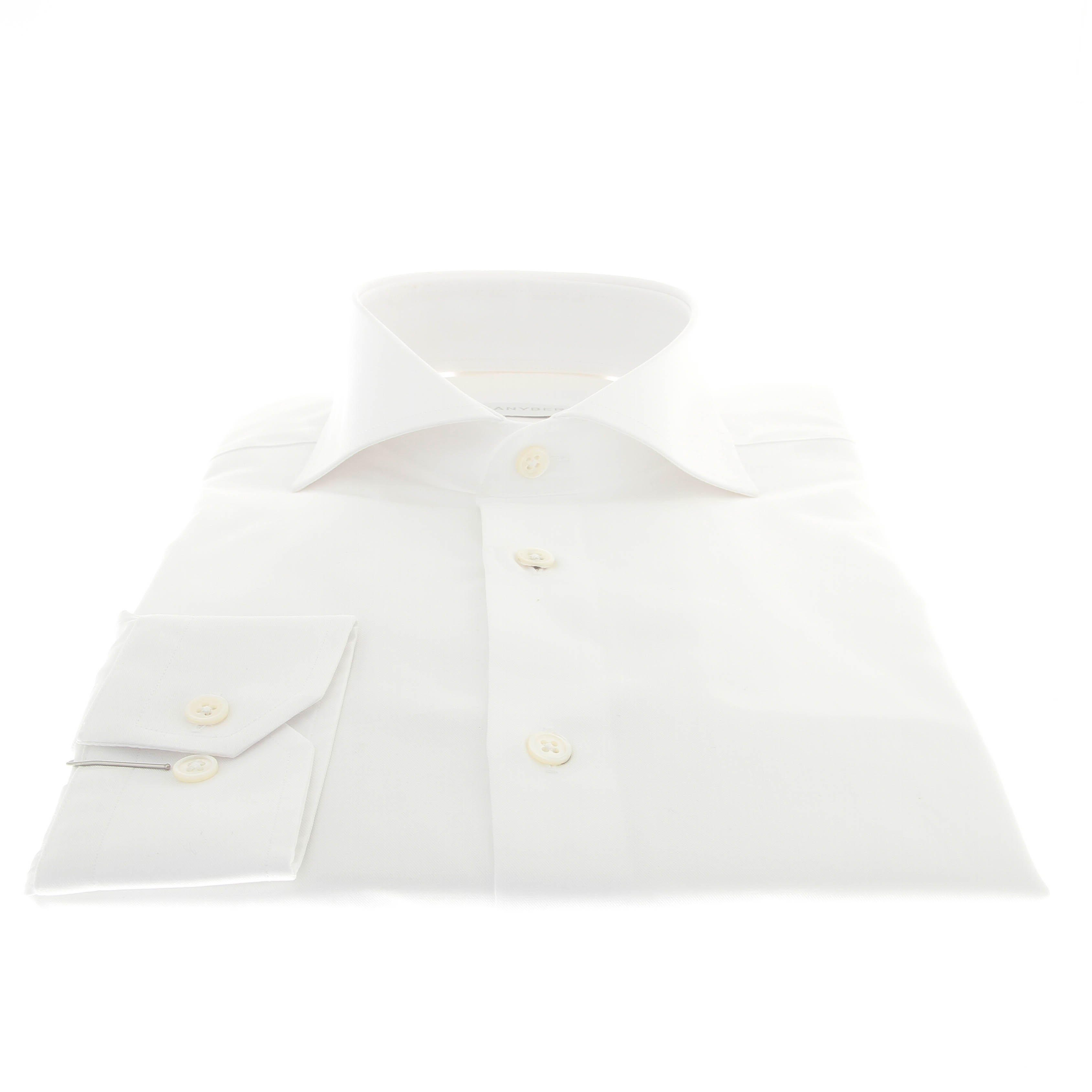 Chemise Perla : Blanc - Col Italien - Boutons en nacre. (Shirts)