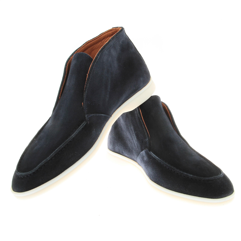 Boots italy : Marine - veau velours