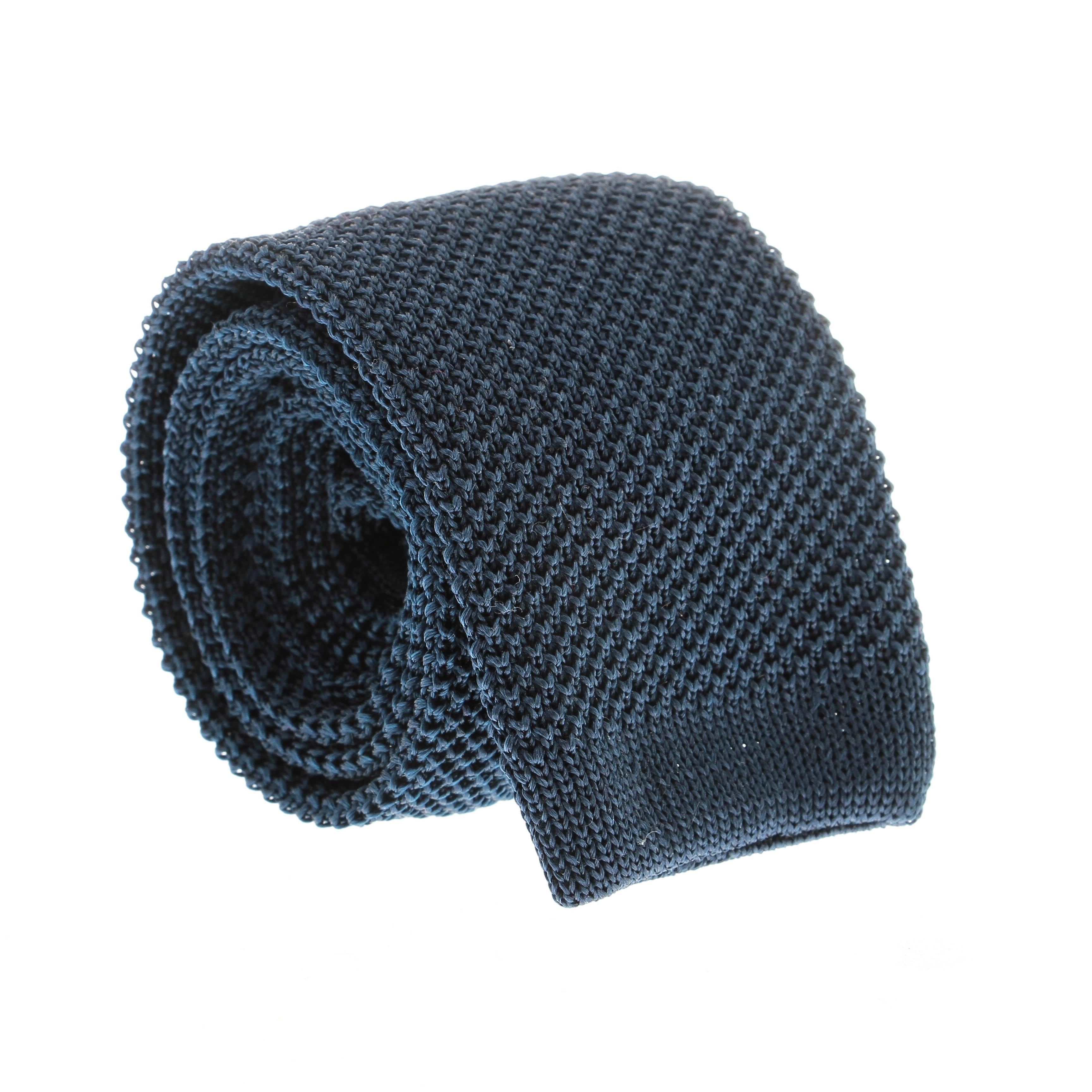 Cravate Tricot : Indigo
