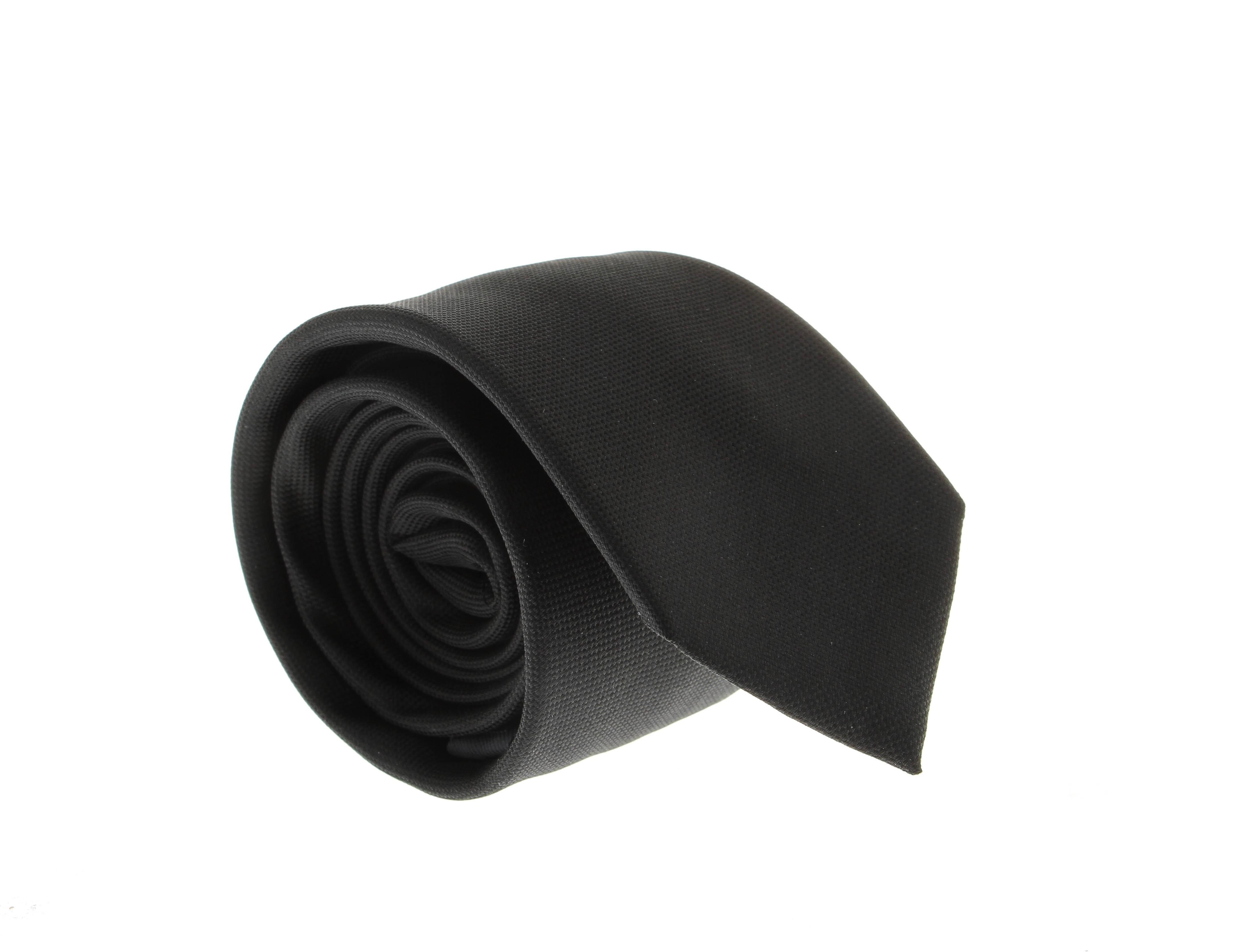 Cravate en soie : Noir - Grainé