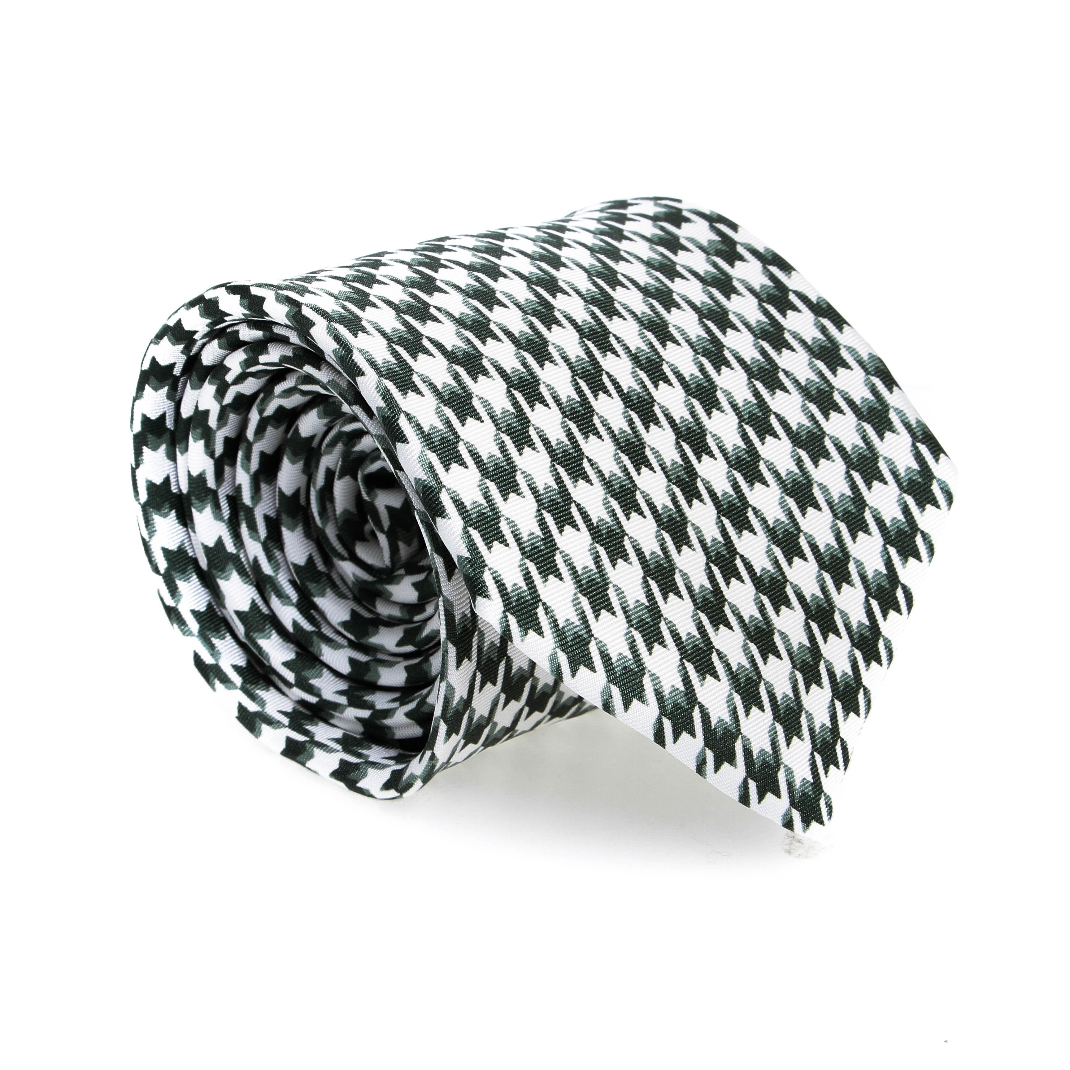 Cravate en soie : Carreaux verts et blancs