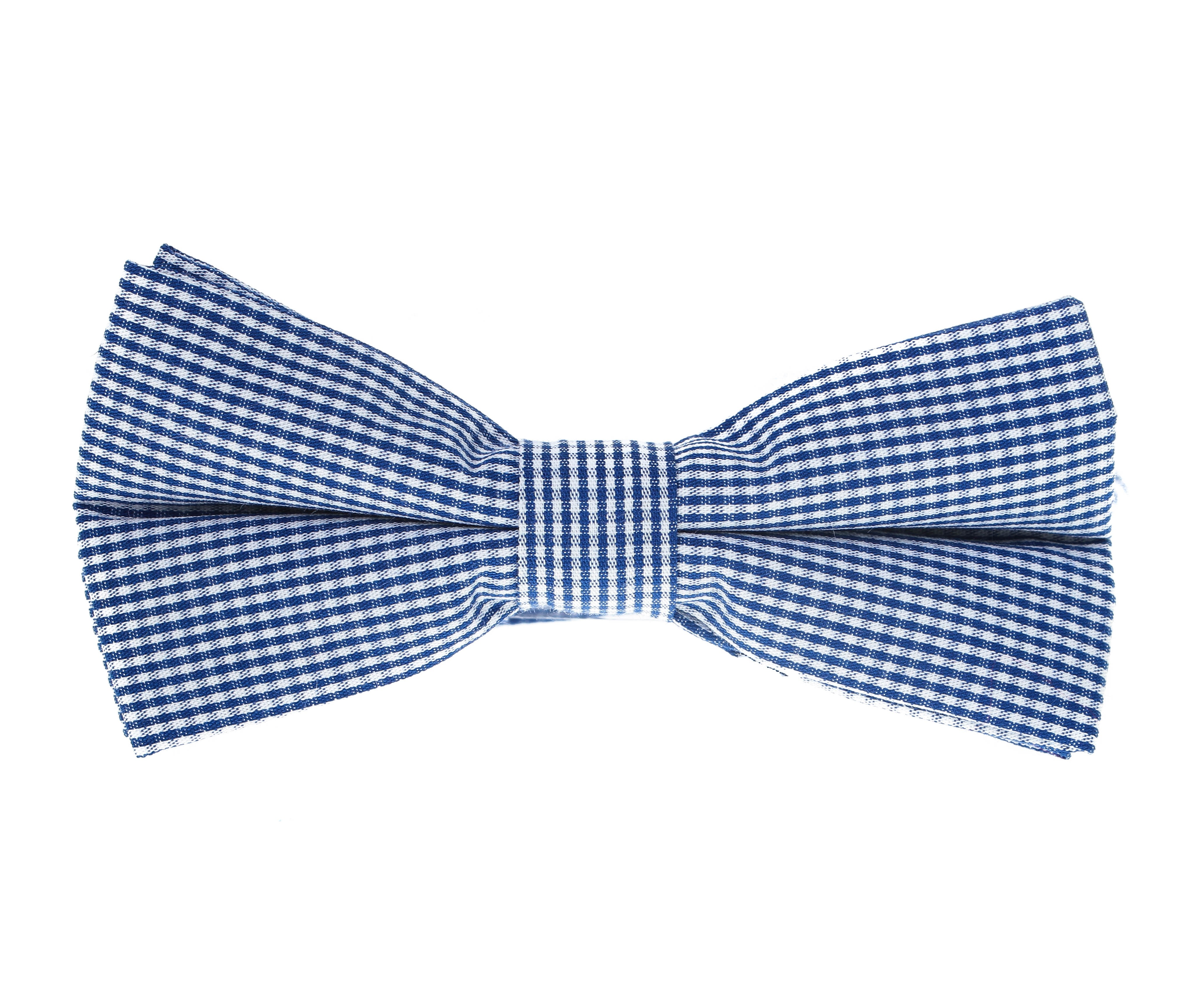 Nœud Papillon : Micro-Vichy bleu et blanc