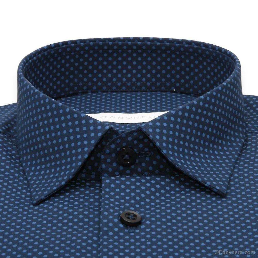 Chemise Stitch : Base Marine - Slim-Cut - Petit Col Français (chemise)