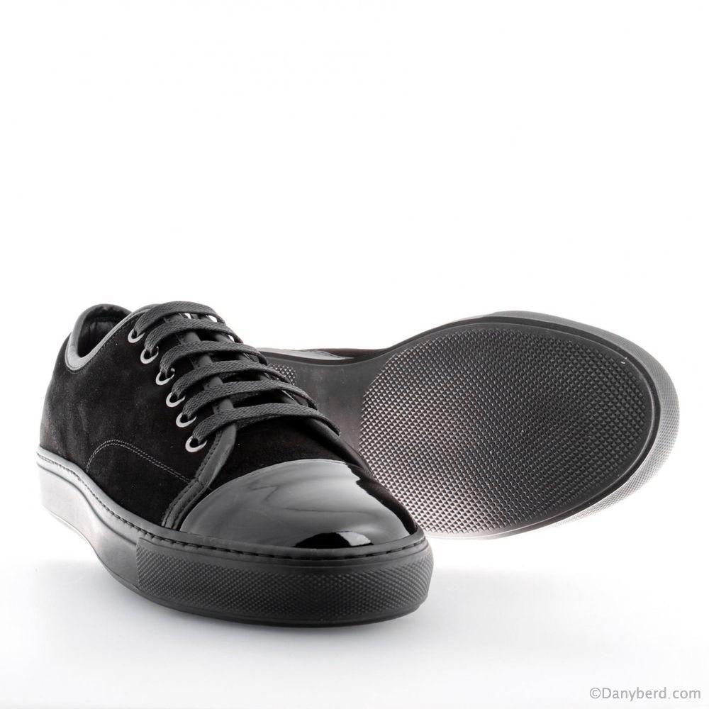 sneakers noires veau velours