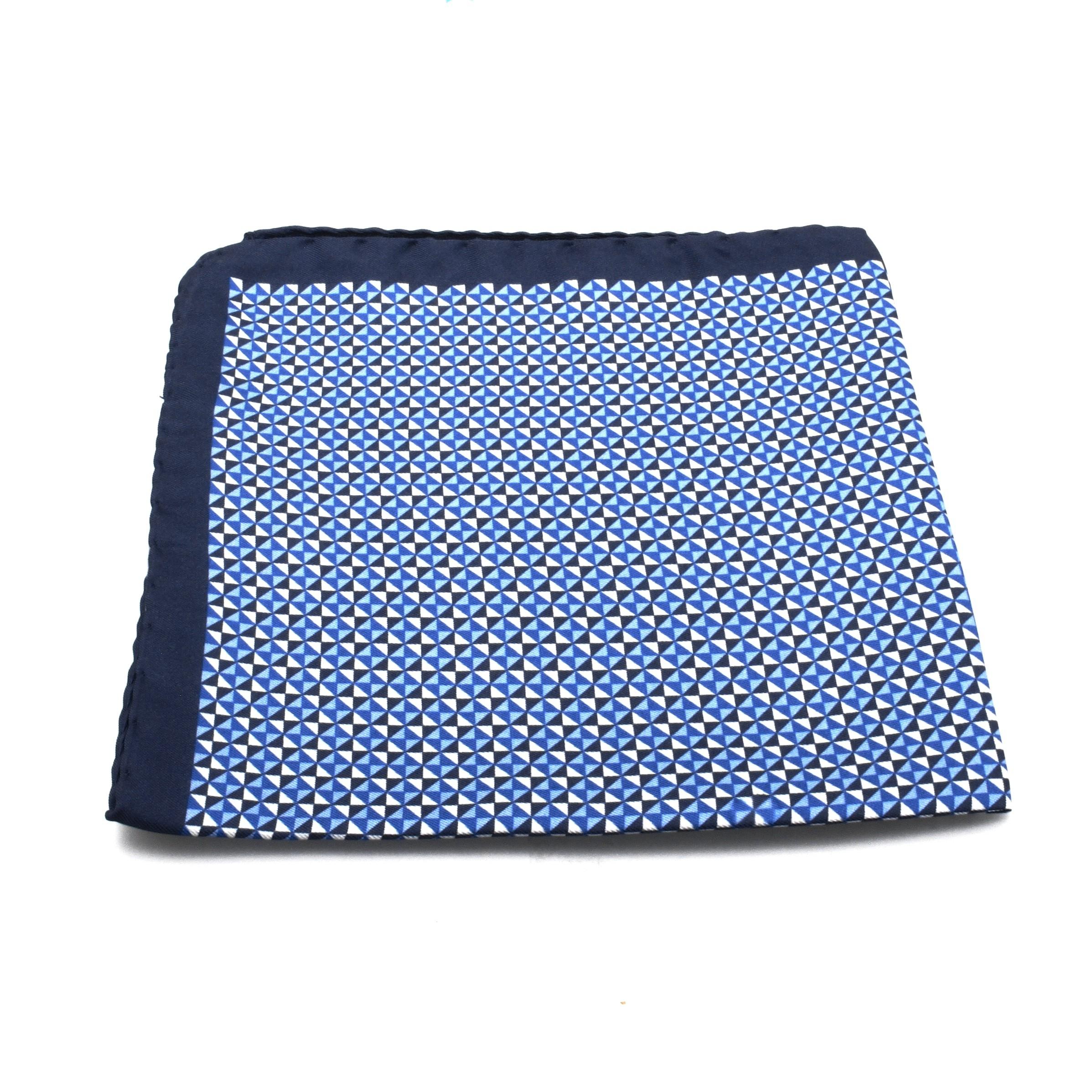 Pochette Soie : Motifs Bleus (Pochettes)