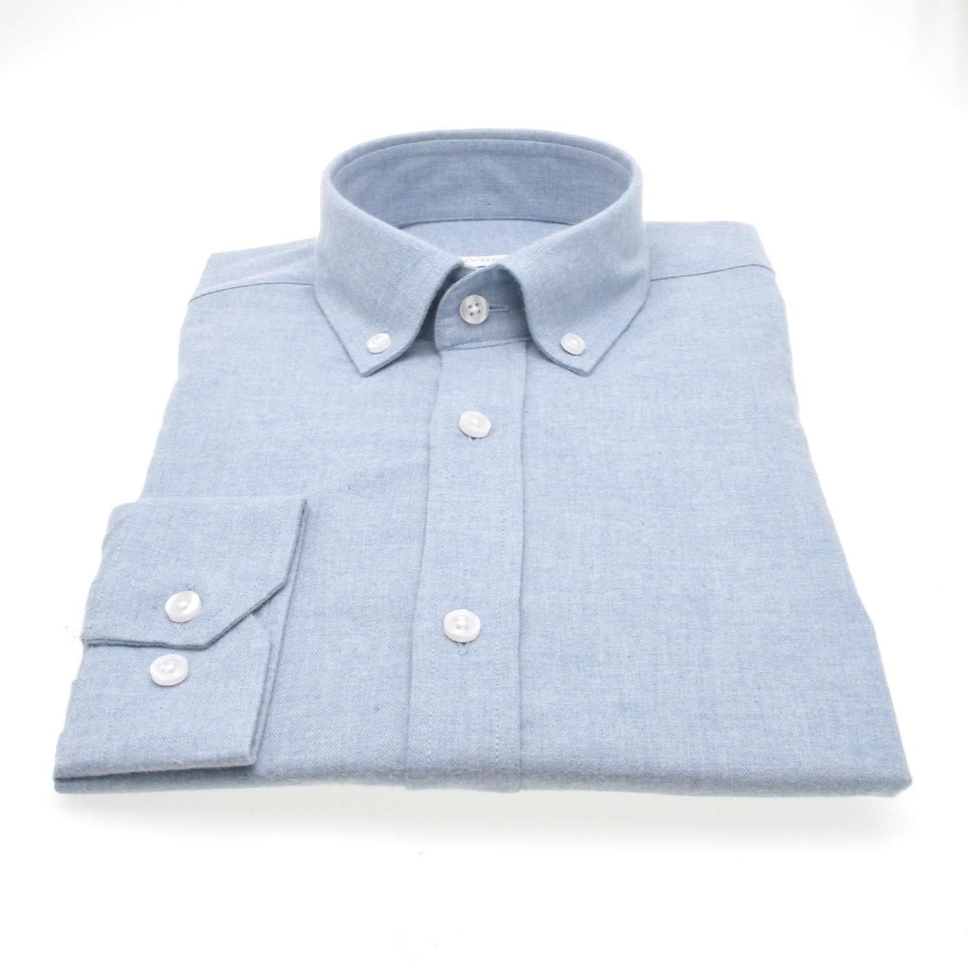 Chemise Winter Vermont : Bleu ciel - Flanelle (chemise)