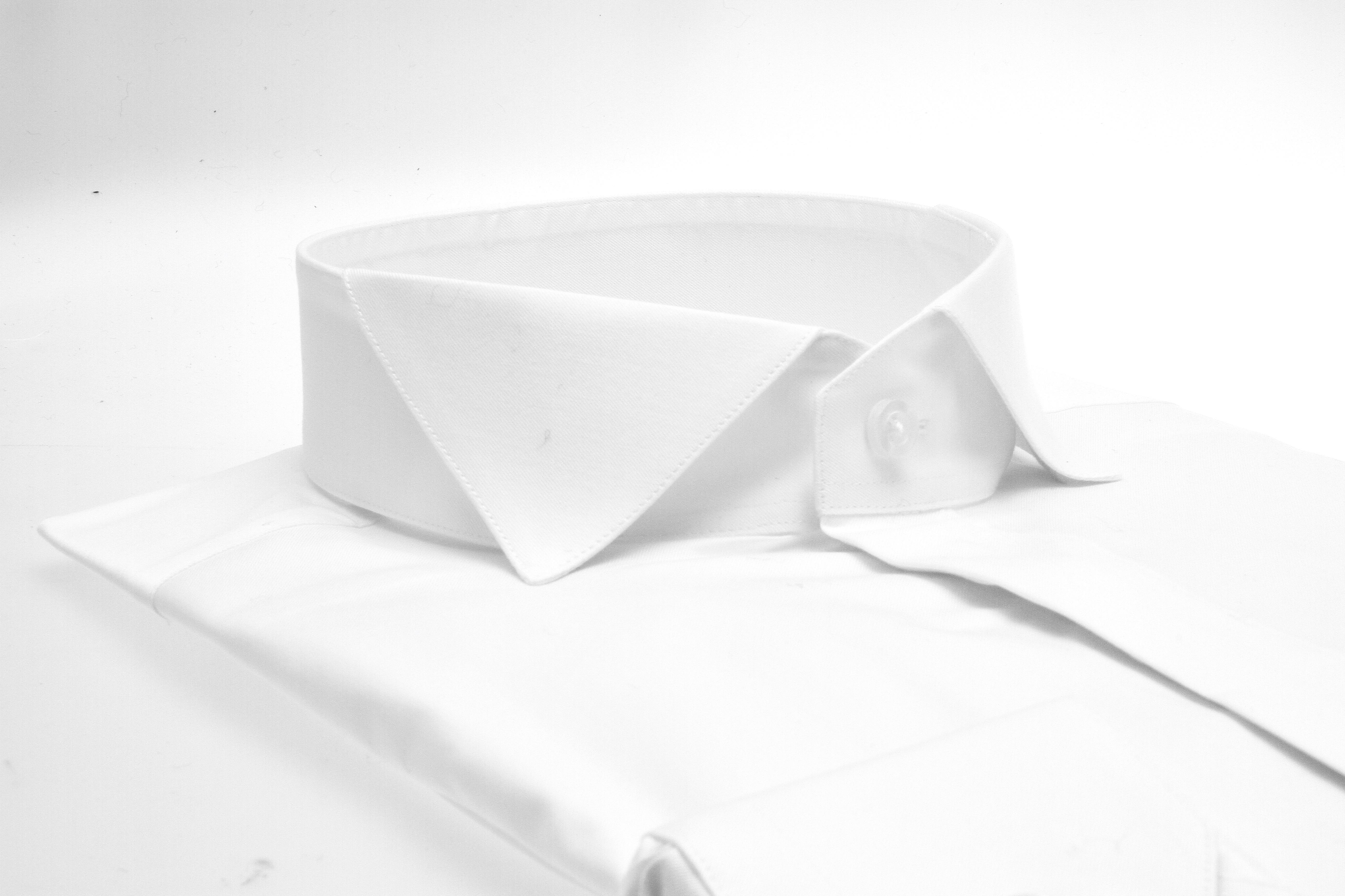 Chemise Reims : Blanche - Slim-Cut - Col Cassé (chemise)