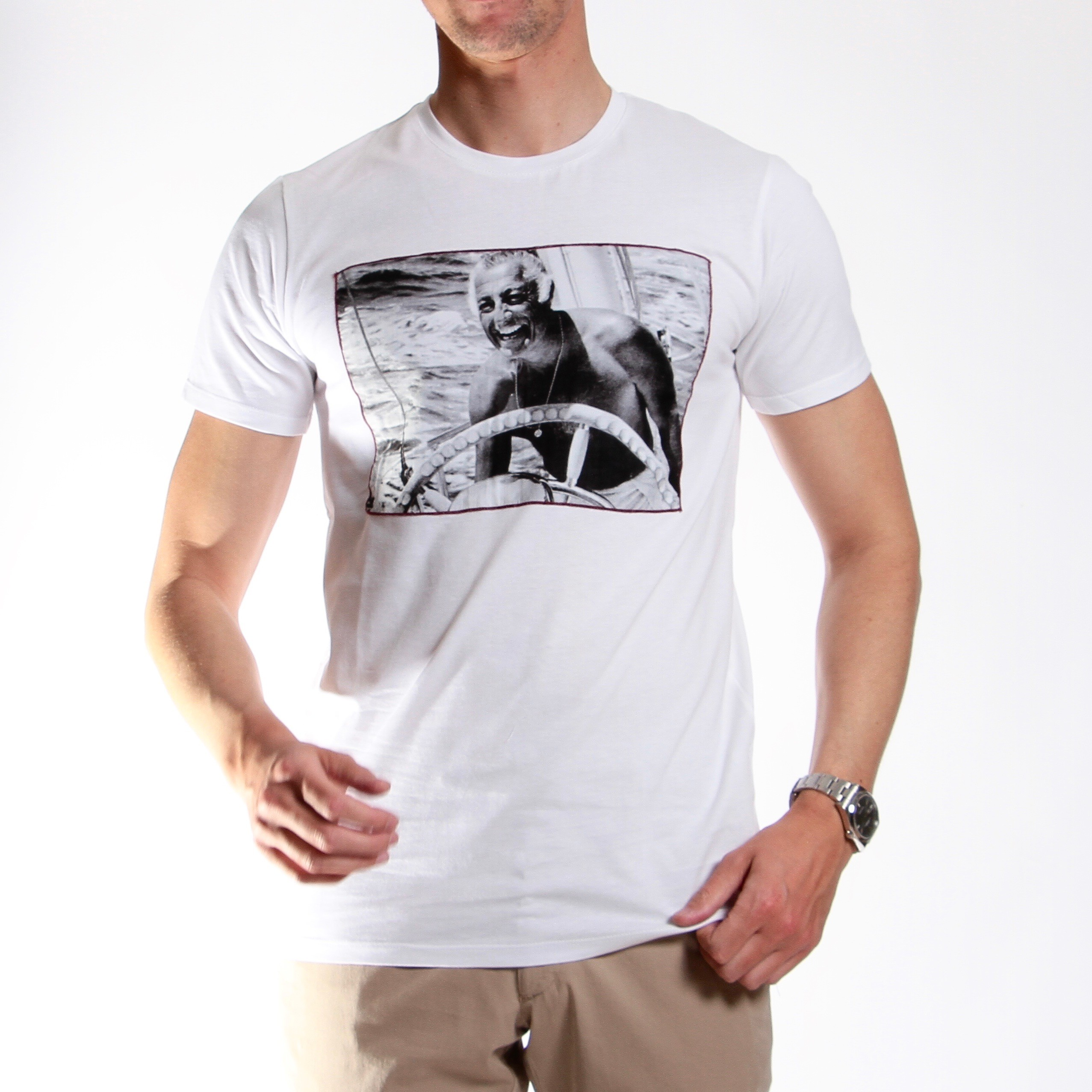 Tee-shirt Stampa : blanc - coton (Tee-shirt)