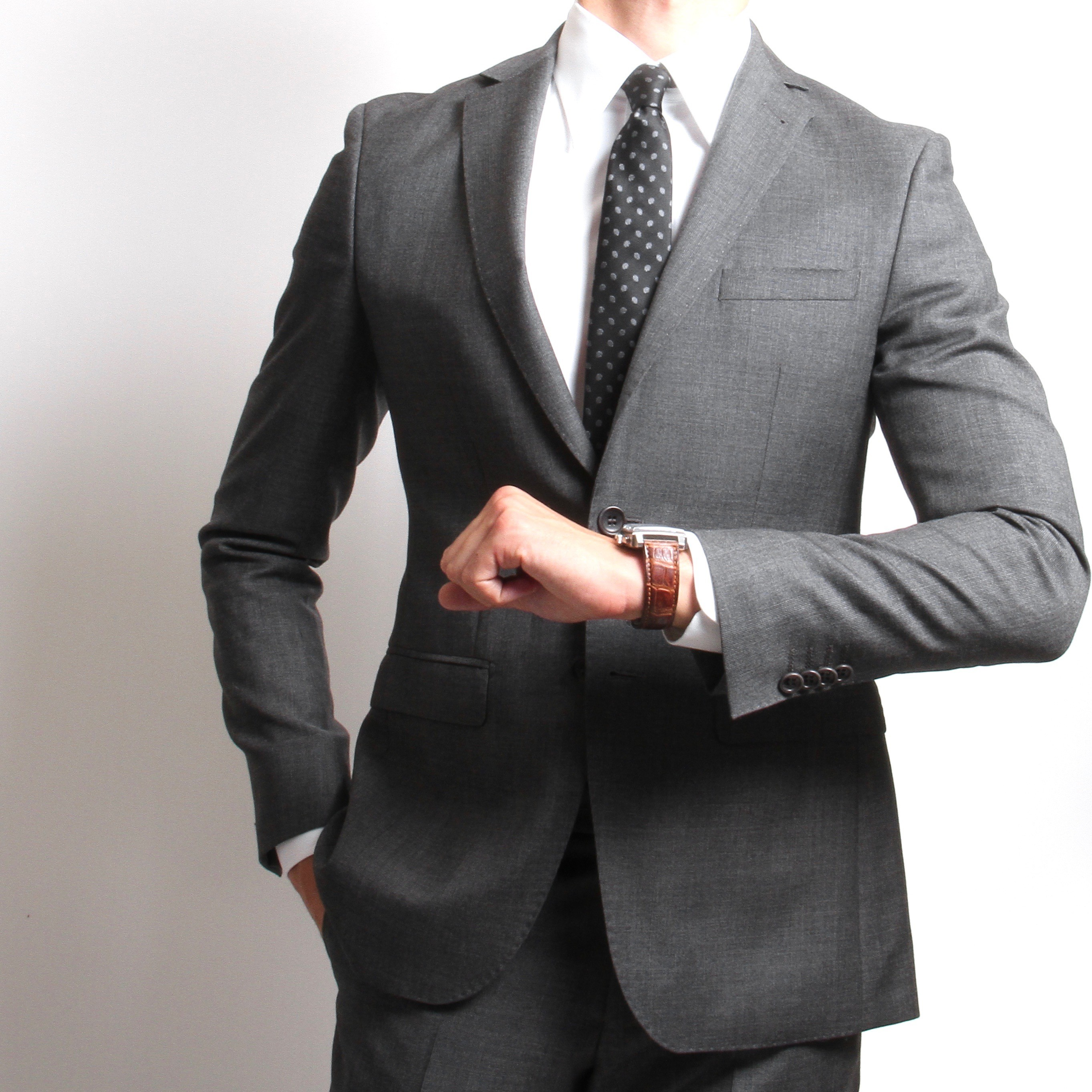Costume Anthracite - Slim-Fit - Prince de Galles - Canonico 110's (Suits)