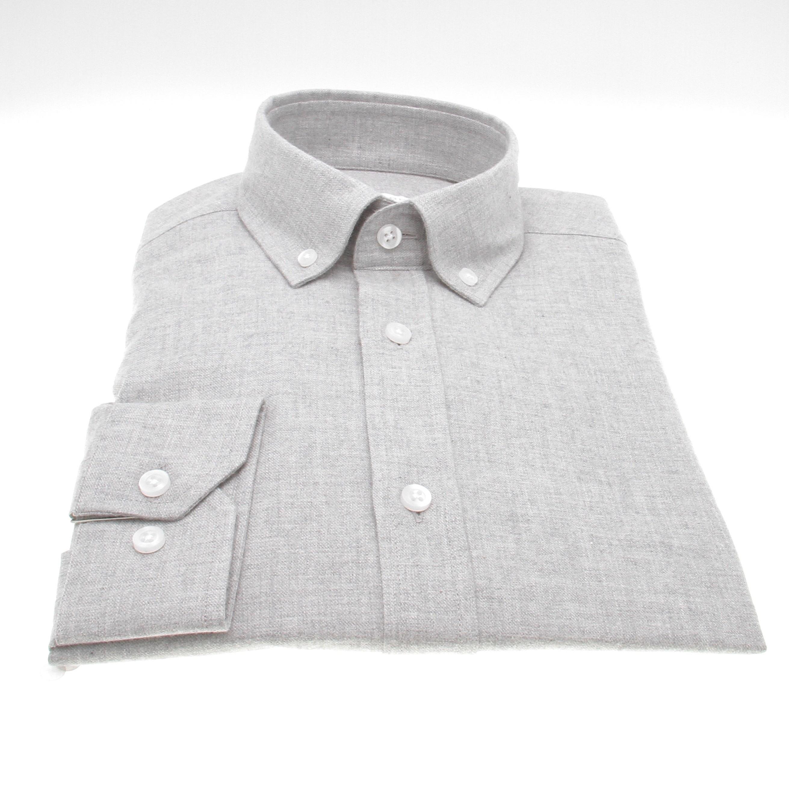 Chemise Winter Vermont : Gris Clair - Flanelle (Shirts)