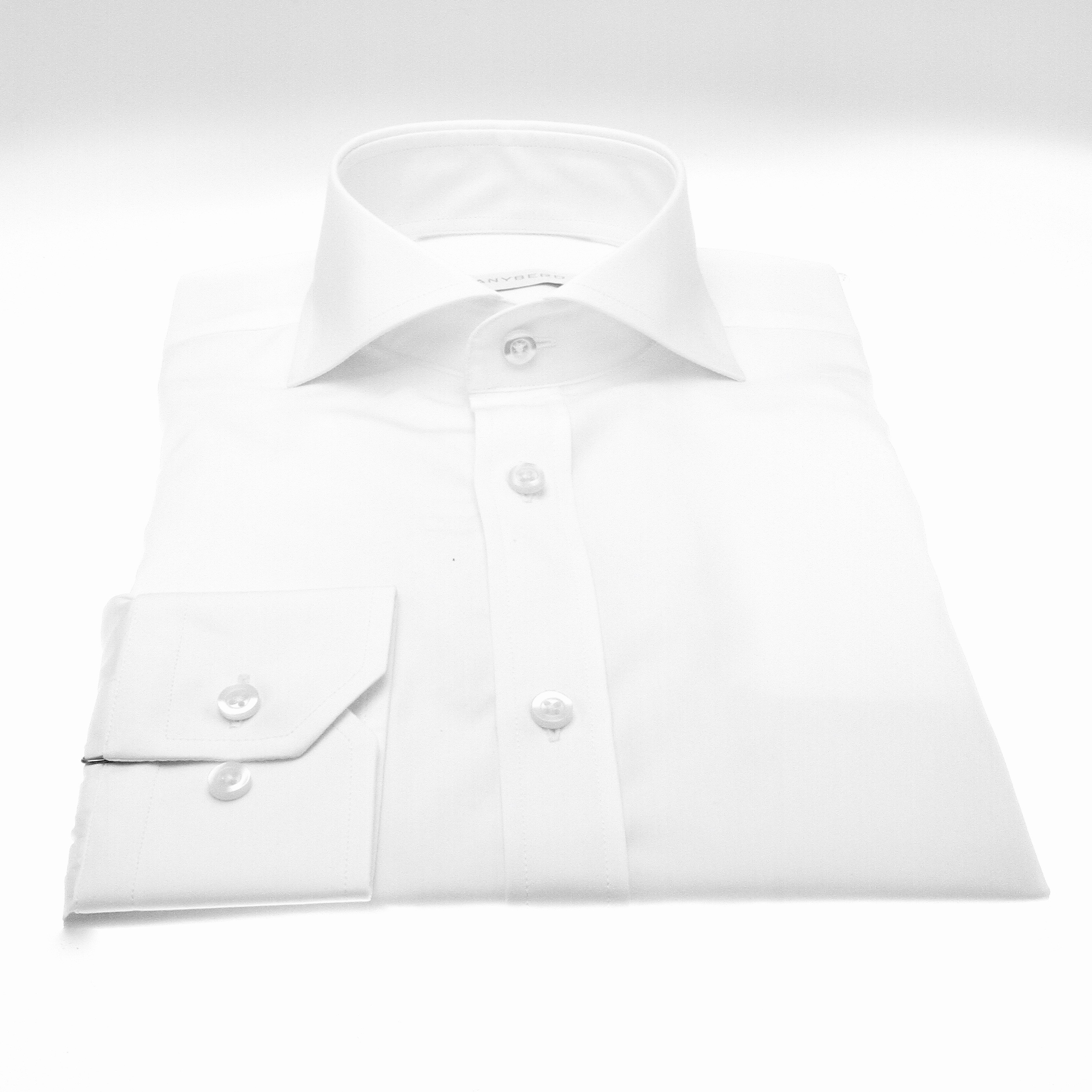 Chemise Reims : blanche - Col Italien (ShirtsChemise Reims : Rayures - Slim-cut - Col Italien (Shirts