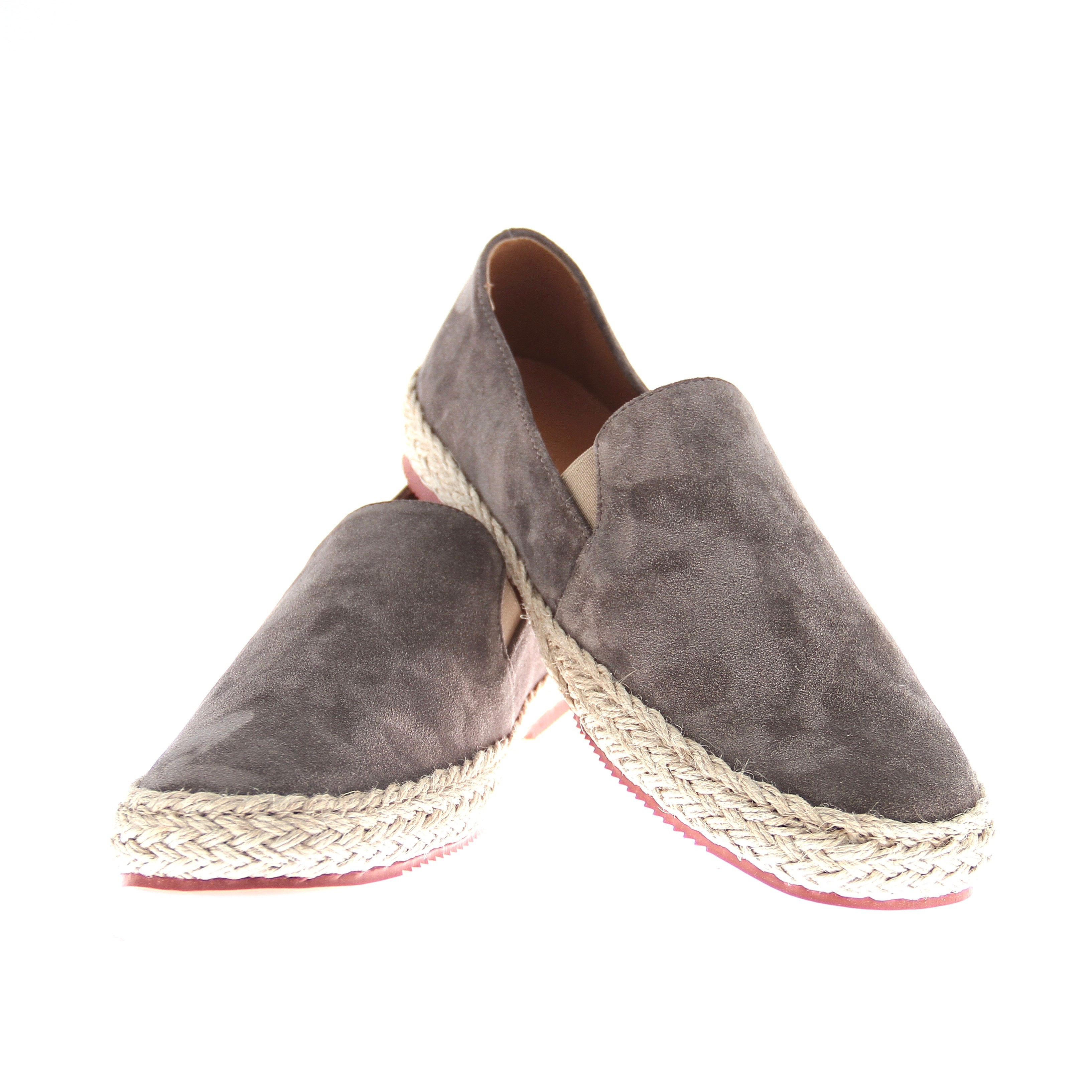 Espadrilles : taupe - veau velours - made in italy (Shoes)