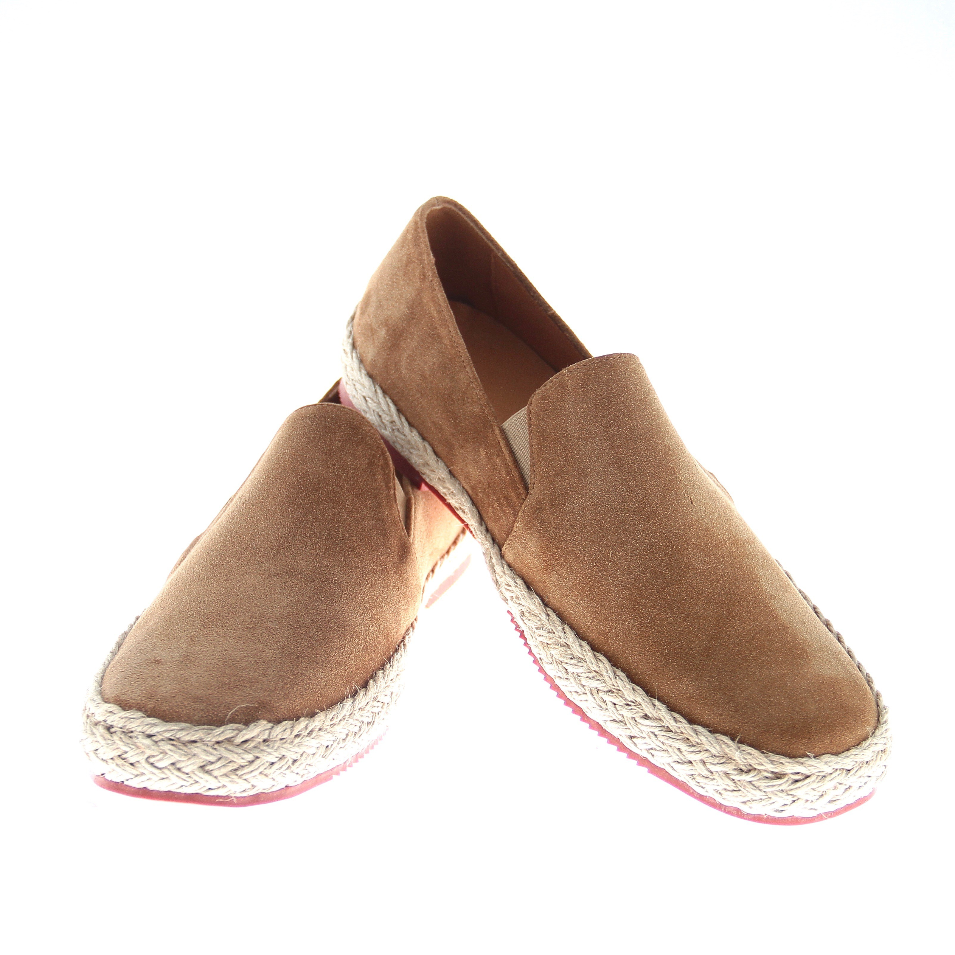 Espadrilles : camel - veau velours - made in italy (Shoes)