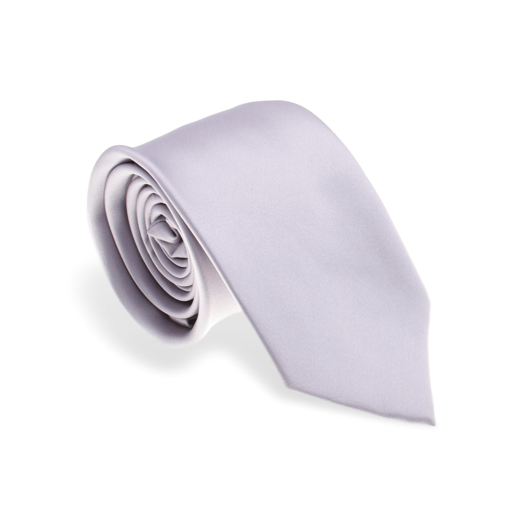 Cravate en Soie : gris clair - Large