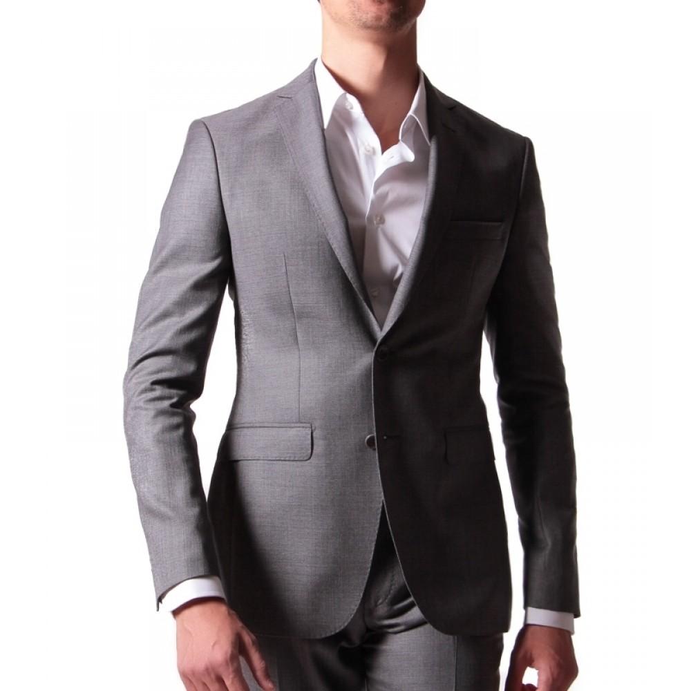 Costume : Gris - Laine peignée - Tissu Reda 110's