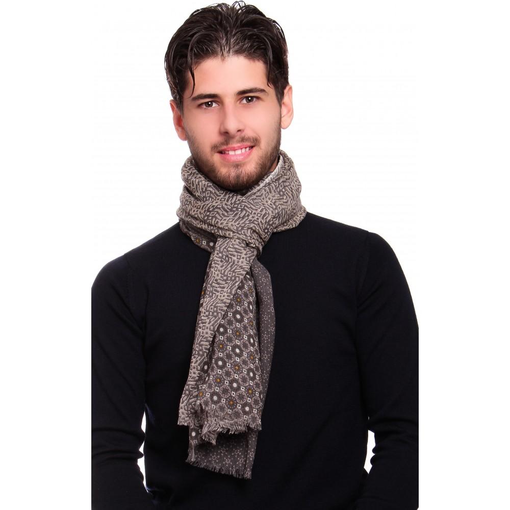 Chèche : Gris - Pure laine