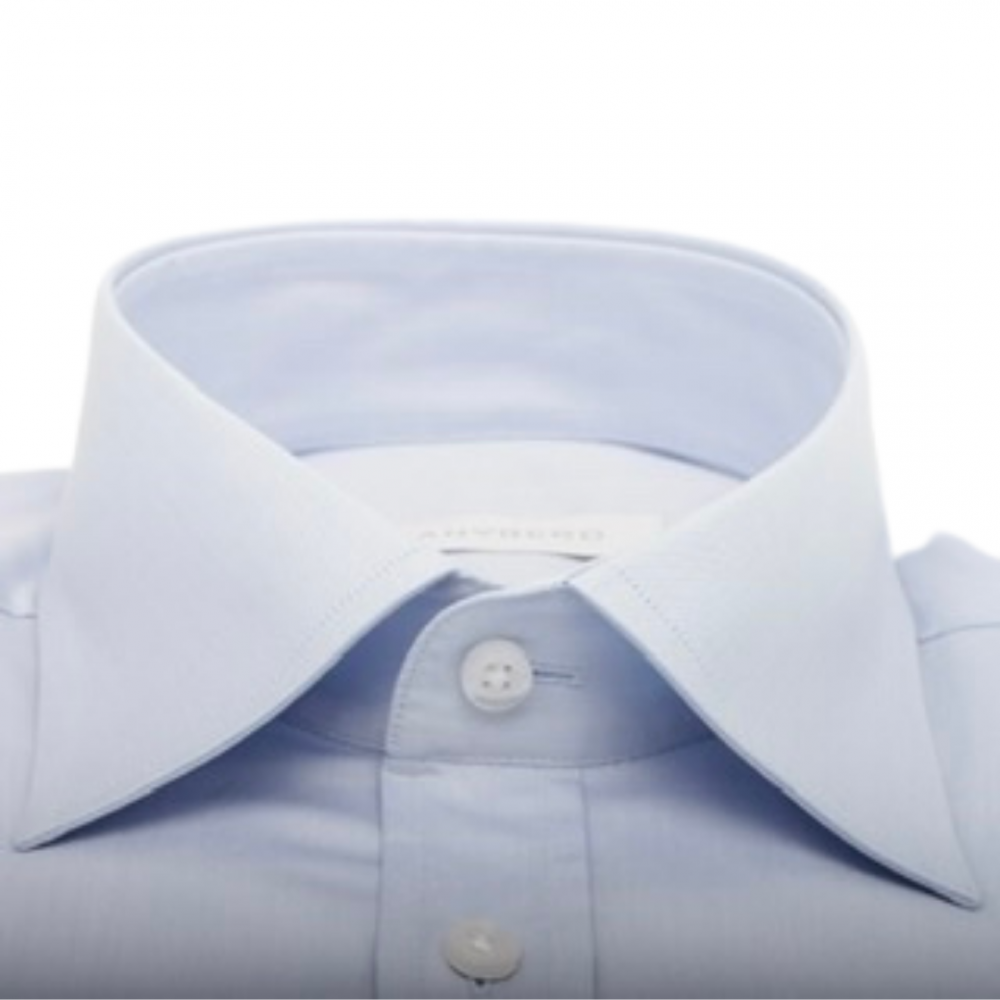 Chemise homme Bleue Slim-Cut Grand Col Français