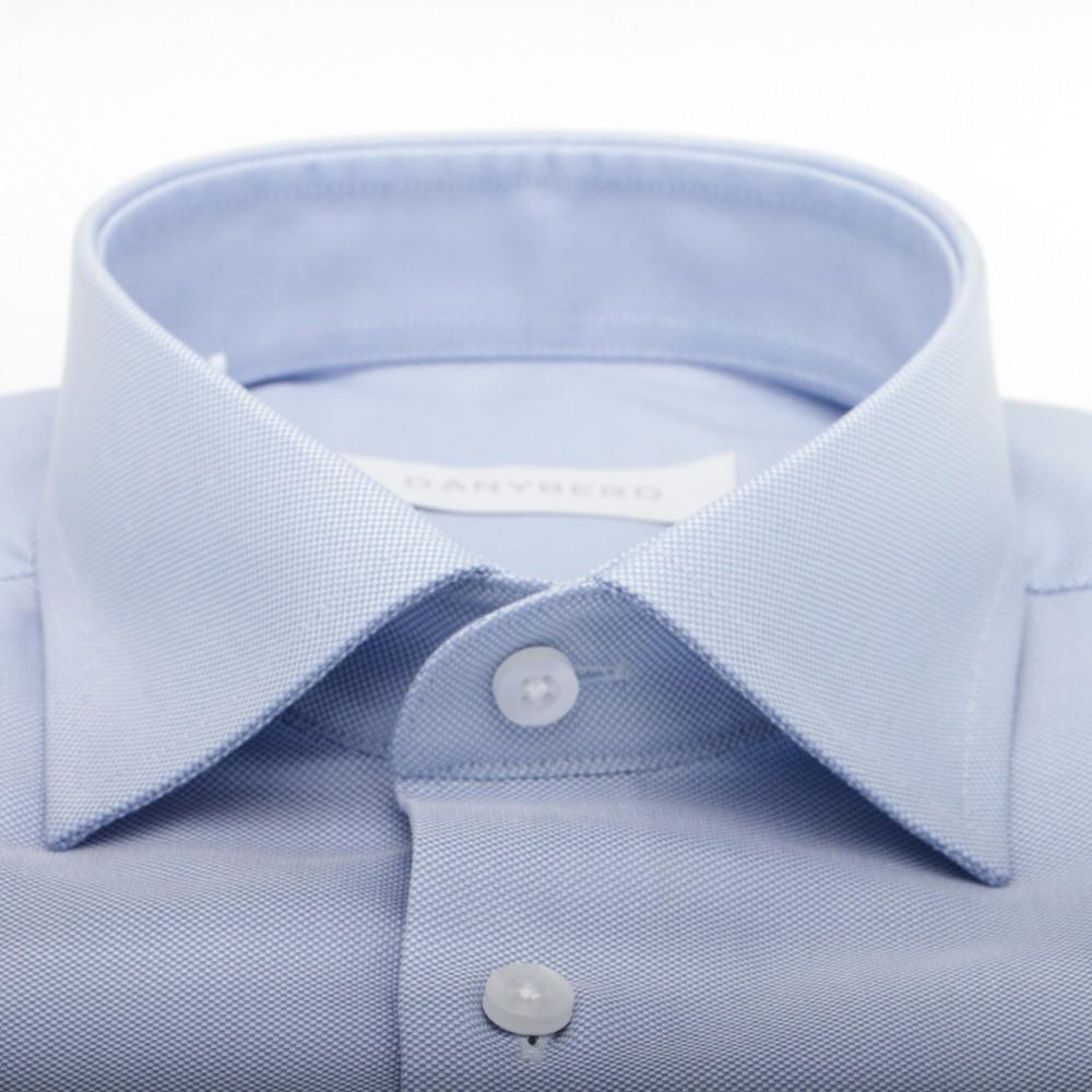 Chemise Bleu Ciel Oxford Col Français 100% Coton