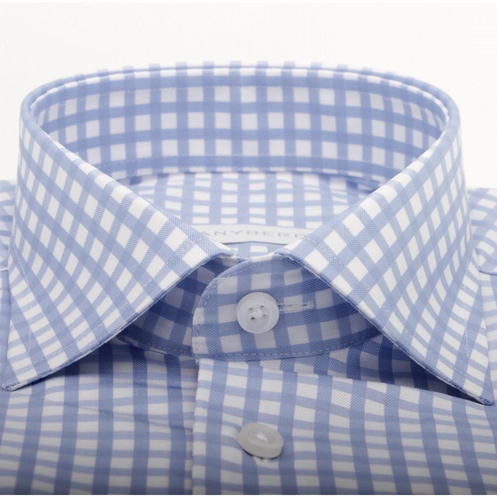 Chemise Homme à Carreaux bleu ciel et blanca