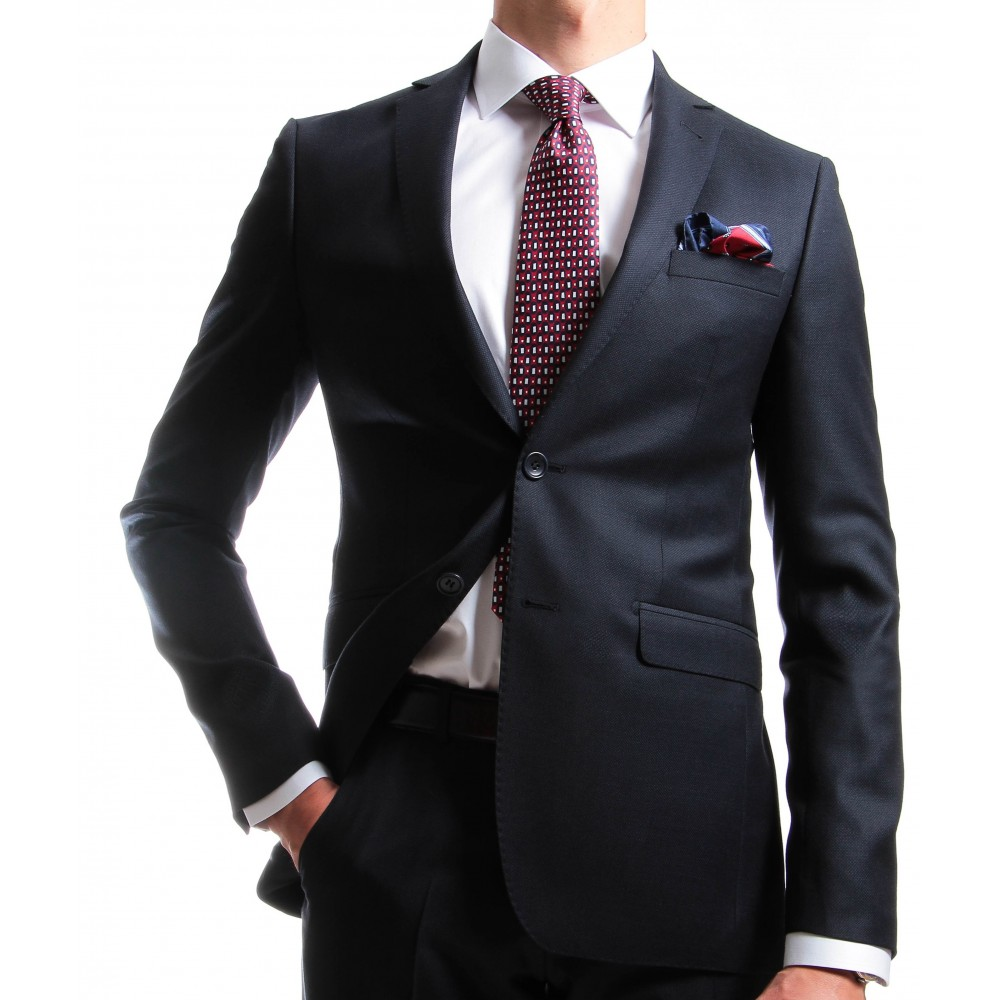 Costume Marine - Slim-Fit - Caviar de laine - Canonico 110's (Suits)