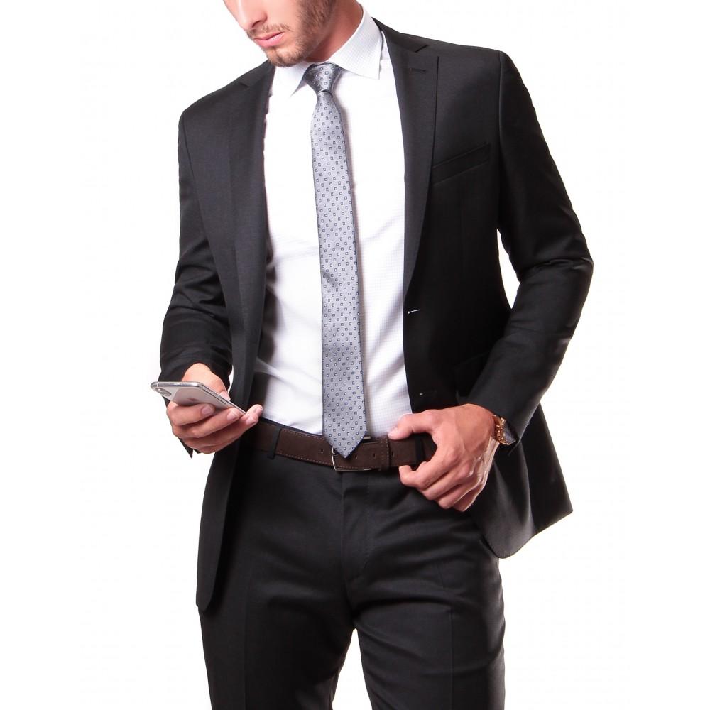 Costume : Anthracite - Slim Fit - Pure laine - Tissu Canonico 110's