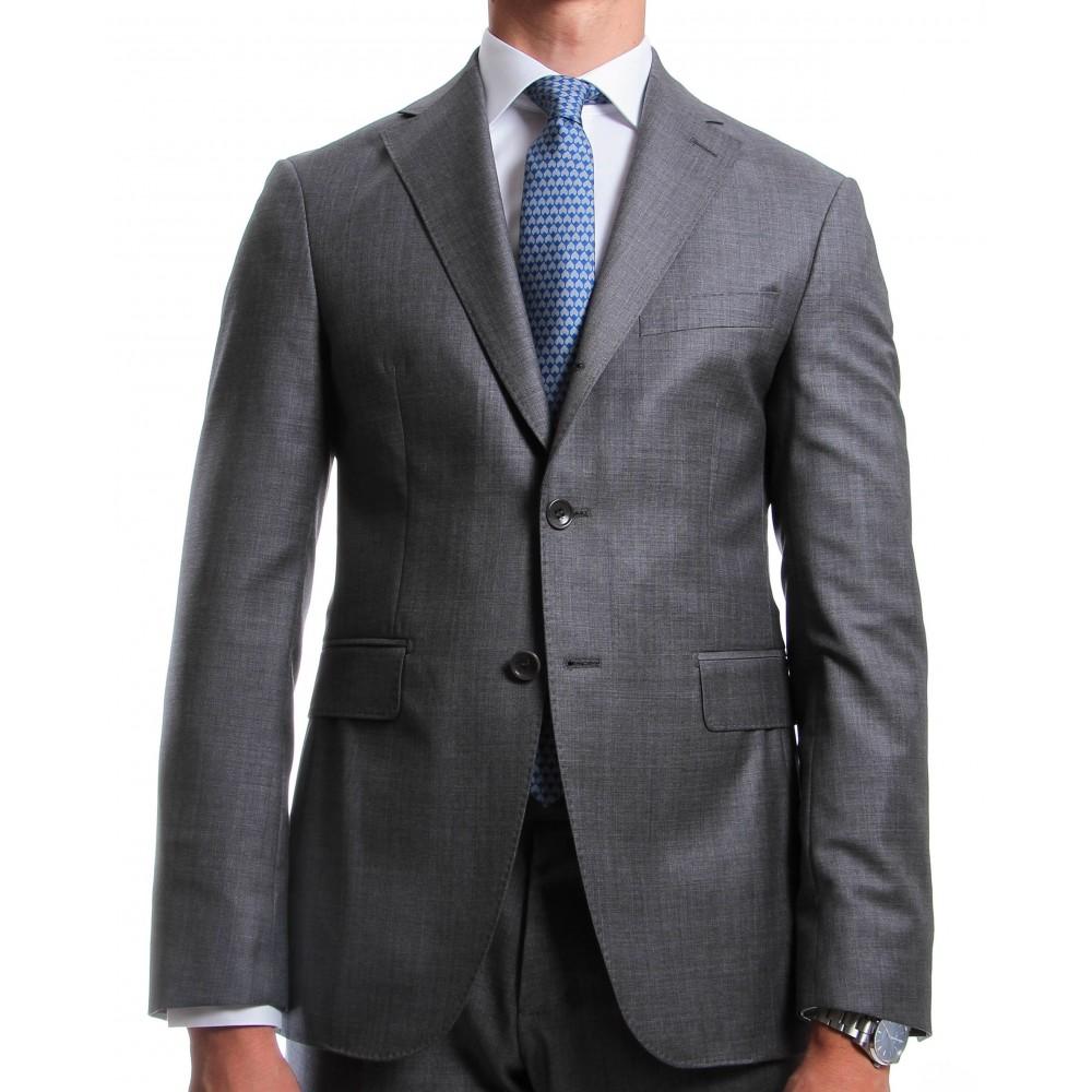 Costume Gris - Slim-Fit - Pure Laine - Tissu Reda 130's