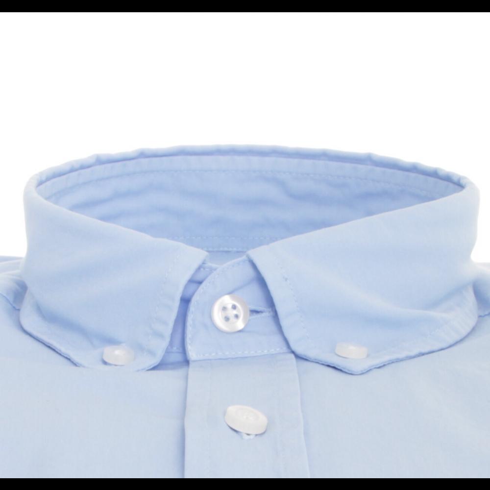 Chemise Bleu ciel col boutonné