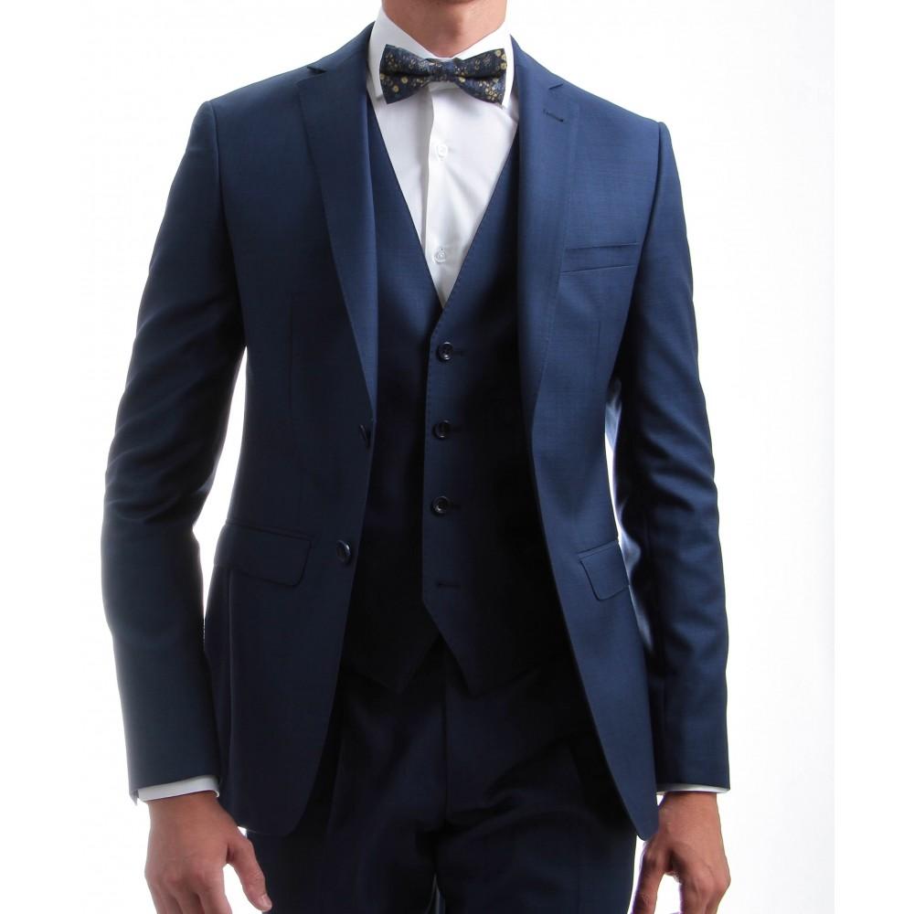 Costume 3 pièces : Bleu - Pure laine - Canonico 110's (Suits)