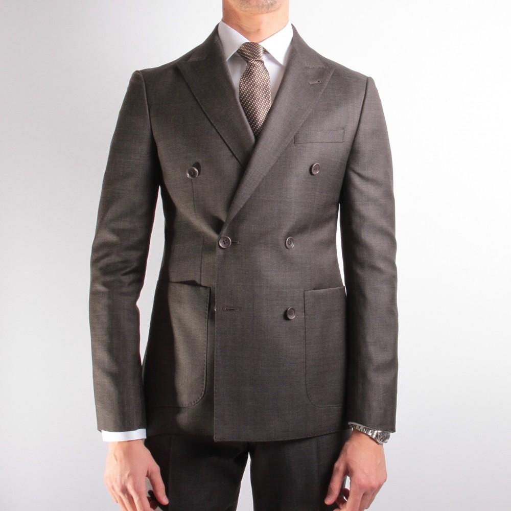 Costume Marron-gris - Croisé - Canonico 110's