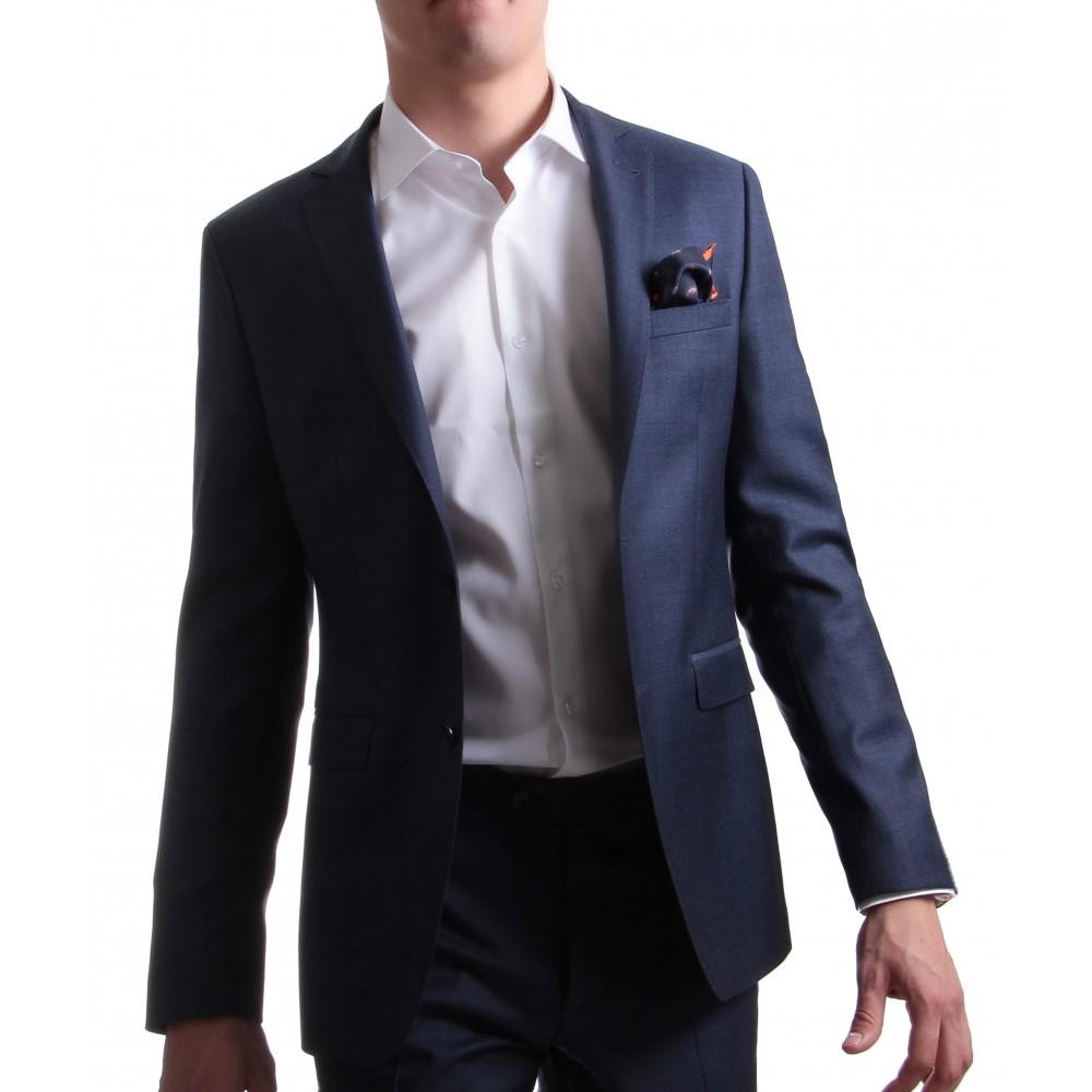 Costume super 130's Loro Piana bleu gris