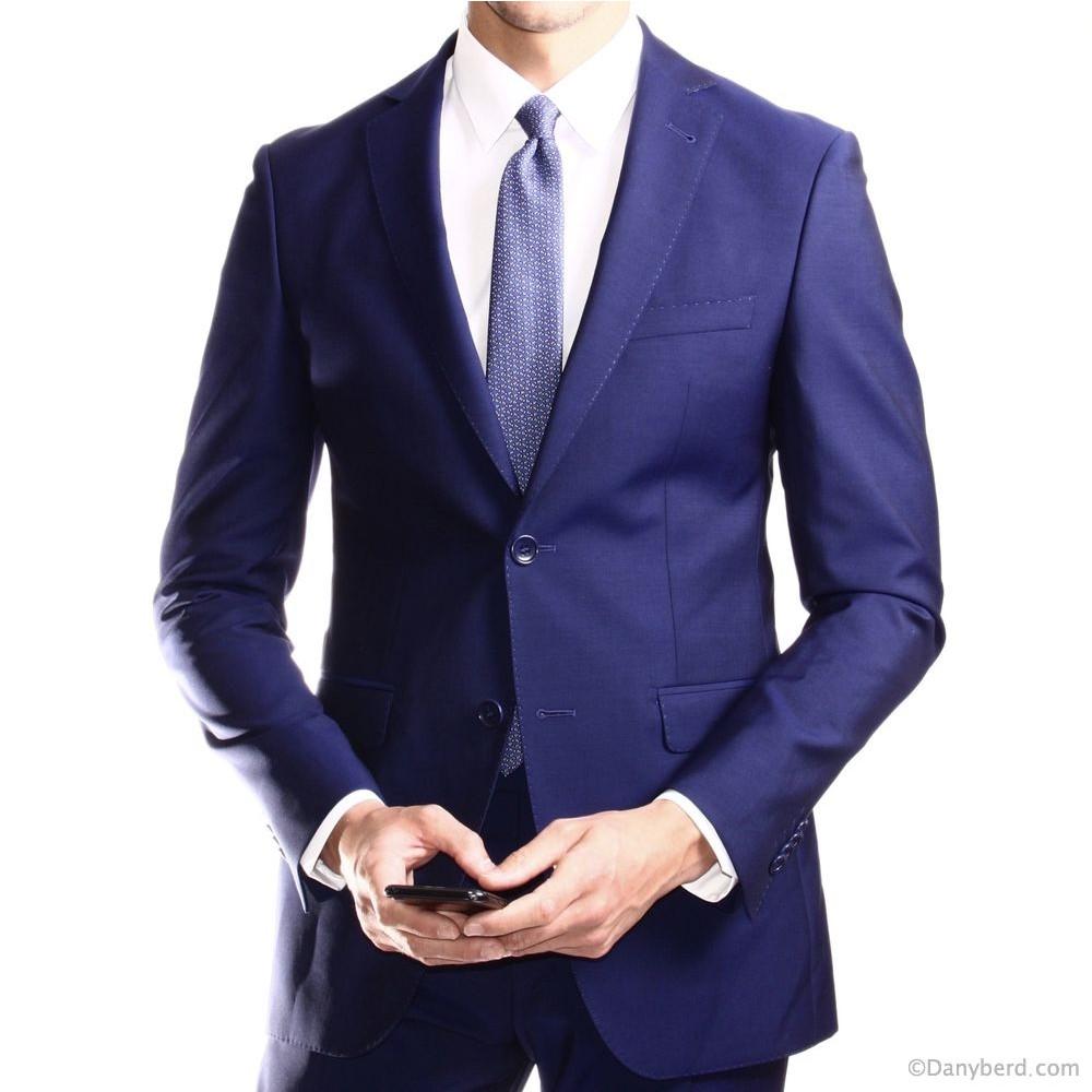 Costume Bleu Roi - Slim-Fit - Laine et Mohair - Tissu Canonico 110's (Suits)