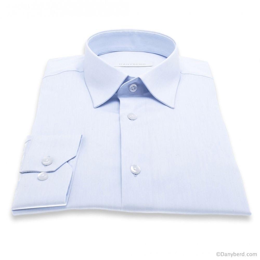 Chemise Roomy : Bleu ciel - Petit col français